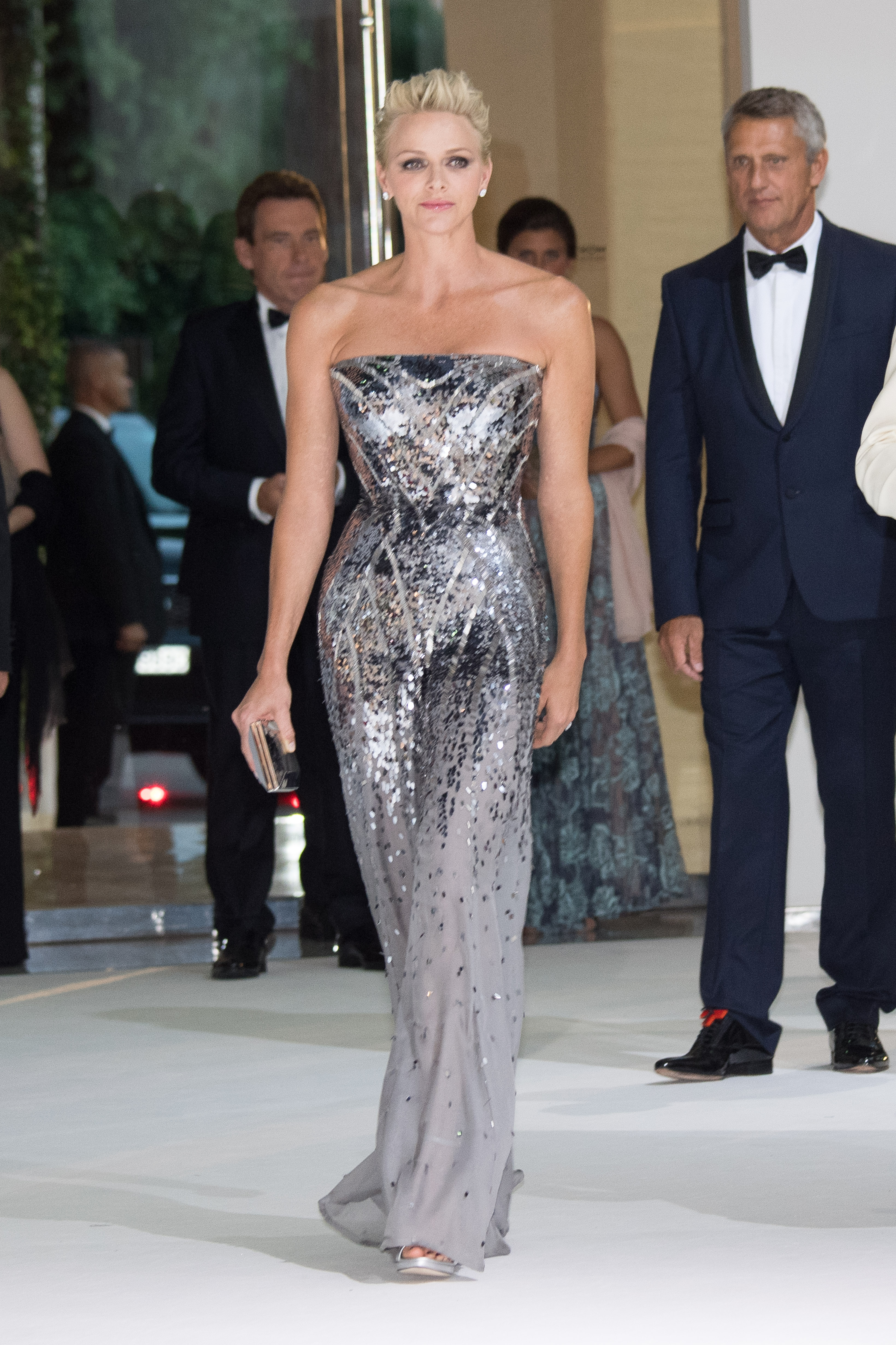 <p>9. Princess Charlene of Monaco</p> <p>After ominous beginnings former Olympic swimmer Princess Charlene has emerged from her shell, and sister-in-law Princess Caroline's shadow, to embrace her own sleek style.</p> At the 69th Monaco Red Cross Ball Gala on July 28 Charlene managed to carry off a silver Versace pantsuit with ease.