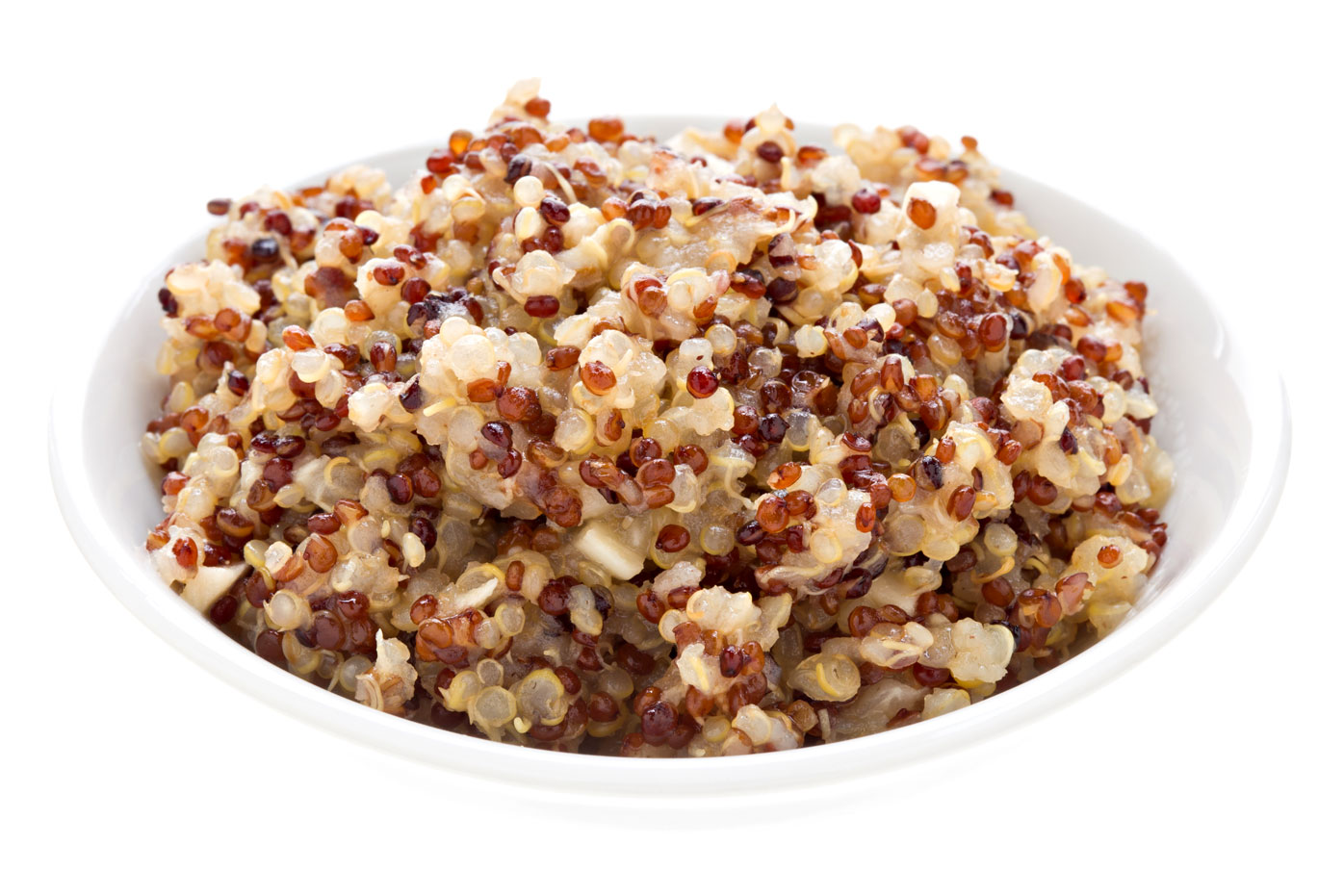 Quinoa: 1/2 cup has 20g carbs, 3g fibre, 111 calories