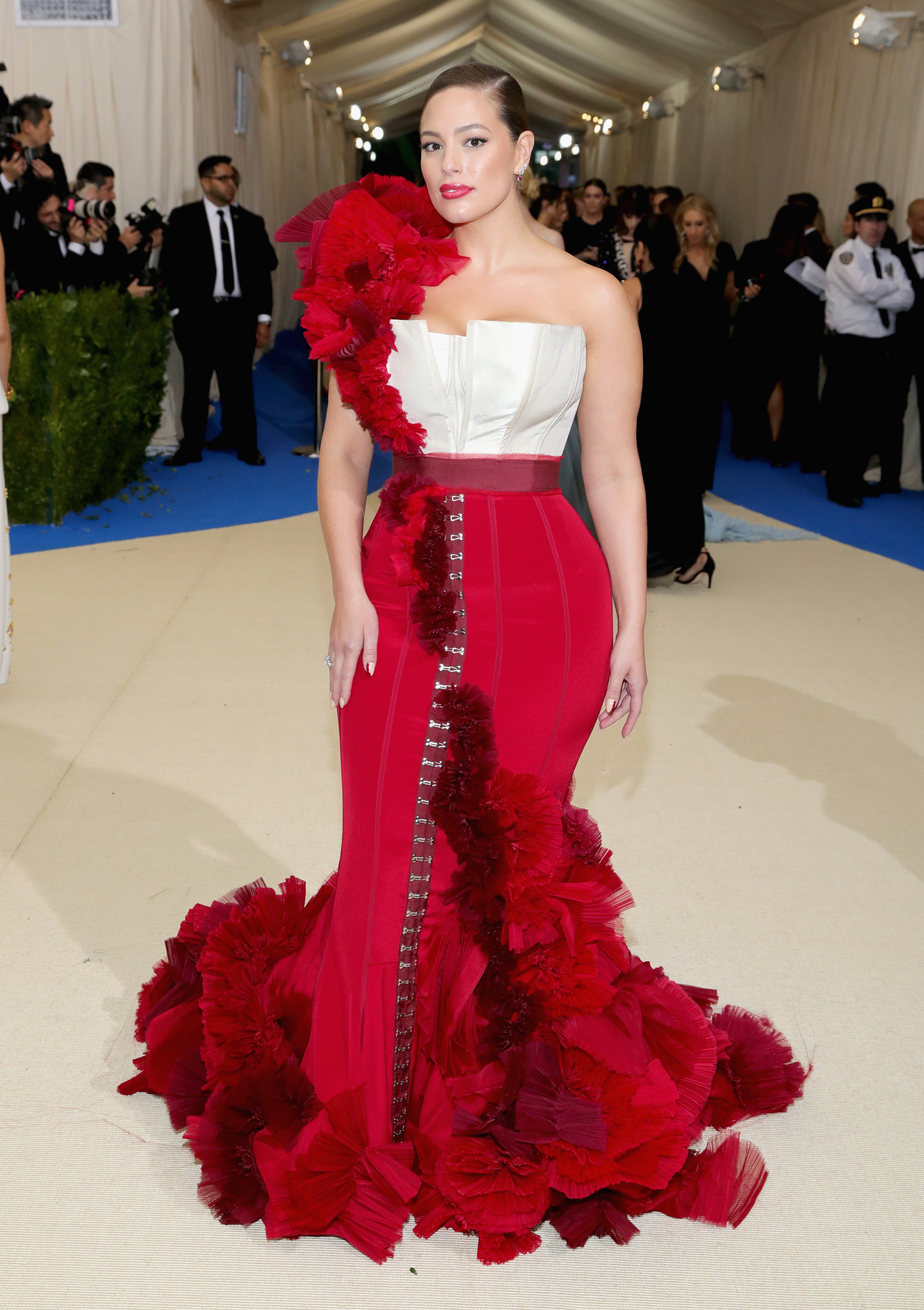 """<p><a href=""""http://style.nine.com.au/ashley-graham"""" target=""""_blank"""" draggable=""""false"""">Supermodel Ashley Graham</a>has revealed that she skipped last year's coveted<a href=""""https://style.nine.com.au/met-gala"""" target=""""_blank"""" draggable=""""false"""">Met Gala Ball</a>as no designer would dress her.</p> <p>The 29-year-old said that she was put 'on hold' for the 2016 event, meaning she was yet to officially receive an invitation but with her curvy body shape not fitted to the rail thin sample size ranges most fashion houses lend from, she  ended up missing the occasion altogether.</p> <p>""""I couldn't get a designer to dress me. You can't just show up in jeans and a T-shirt,"""" Ashley told <em><a href=""""https://www.thecut.com/2017/08/ashley-graham-supermodel.html"""" target=""""_blank"""" draggable=""""false"""">New York Magazine.</a></em></p> <p>Fast-forward a year and the model was a standout at this year's Met Gala,<a href=""""https://style.nine.com.au/2017/05/02/08/15/met-gala-red-carpet-2017/72"""" target=""""_blank"""" draggable=""""false""""> ruling the red carpet in a custom gown from H&M.</a></p> <p>""""Rihanna said I looked 'hot as f**k. I had no idea what to say to her. I was just like, 'You slay every Met, Rihanna!' said Graham. </p> <p>Themodel-of-the-moment's refusal to fit the sample size mould has seen her achieve mainstream success in the fashion industry and become a champion of body positivity for women with fuller figures.</p> <p>Clad in head-to-toe   Dolce & Gabbana, with jewels from Tiffany & Co, Cartier and Van Cleef & Arpels adorning her body, Ashley has given a revealing interview to<em> New York Magazine</em>where she spoke candidly about the issues that she has faced in her rise to the top.</p> <p>Click through to read about Ashley Graham's size struggles.</p>"""