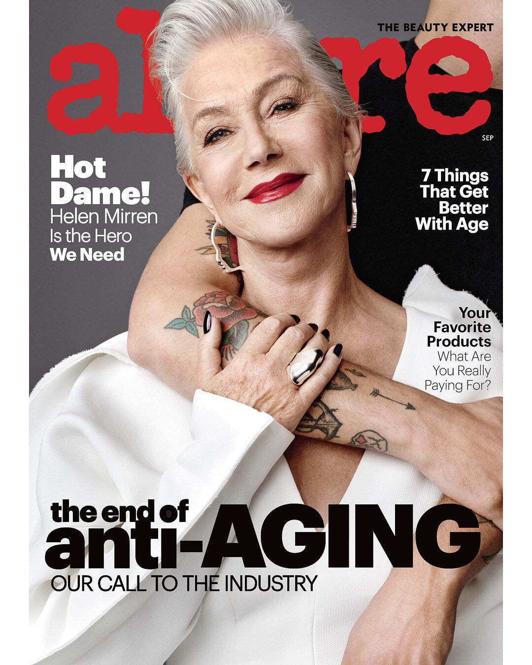 "<a href=""https://style.nine.com.au/2016/11/04/14/14/women-who-never-age/57"" target=""_blank"" draggable=""false"">At age 72 Dame Helen Mirren</a> has long turned a blind eye to Hollywood beauty ideals, but the Oscar/Golden Globe/Tony/Emmy award winner has confessed that in her youngers years she struggled with body confidence and image issues.<br /> <br /> ""It was the time of Twiggy, and I did not look like a twig. My cheeks were too fat, legs were too short, breasts too big,"" Mirren told <em><a href=""https://www.allure.com/preview/story/598a21557e18900ad078d02f?status=draft&template=default&cb=720575?mbid=social_instagram&utm_campaign=likeshopme&utm_medium=instagram&utm_source=www.instagram.com/p/BXxhCDXBewJ/&utm_content=www.instagram.com/p/BXxhCDXBewJ/"" target=""_blank"" draggable=""false"">Allure.</a></em><br /> <br /> The English actress stars on the cover of the September issue of <em>Allure</em> magazine where she spoke candidly about how she never fitted into the leggy and emaciated beauty standards of the '60s.<br /> <br /> ""I fell into the cliché of sexiness: blonde hair, tits, waist, which I hated at the time because it was not fashionable. You had to be thin and have a cigarette and only wear black. And I just never fit into that look,"".<br /> <br /> Now the Hollywood heavyweight who has been referred to as a sex icon for over four decades wishes she could tell her younger self to ""f**k off.""<br /> <br /> ""It's hard to explain how difficult it is to overcome the culture. You become a voice in the wilderness. No one wants to listen,"" Mirren said.<br /> <br /> Click through to see the beauty evolution of Dame Helen Mirren."