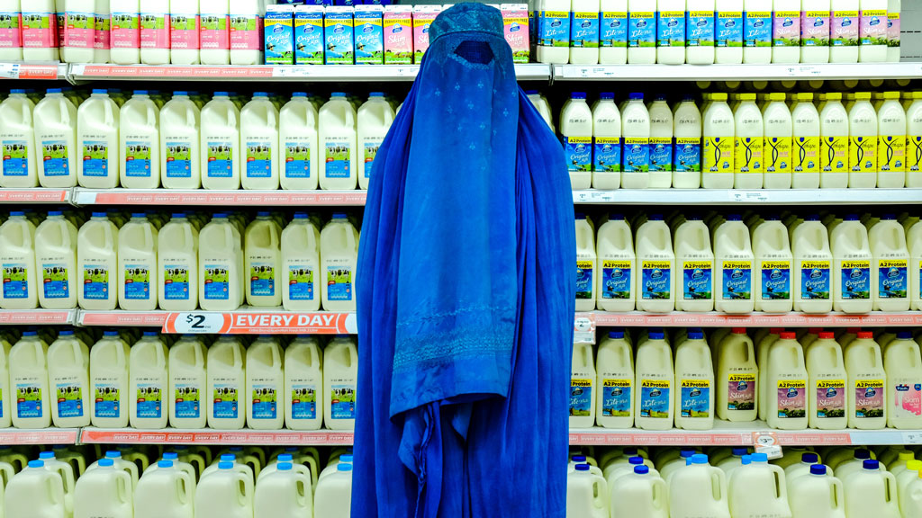 "<p>As Pauline Hanson calls for a plebiscite to ""Ban The Burqa"", photographer Fabian Muir's <a href=""http://www.fabianmuir.com/urban-burqa"" target=""_blank"" draggable=""false"">Urban Burqa</a> series is even more poignant.</p> <p> </p> <p>The Australian artist tells <em>9Honey</em>, he hopes people look beyond the initial image.</p> <p> </p> <p>""It's frustrating, people taking away the most superficial impression,"" he says.</p> <p> </p> <p>""For those willing to take the time, hopefully they reveal more and more layers as you engage your brain sufficiently to really contemplate what the picture might be trying to tell you.""</p> <p> </p> <p>Speaking of the ""striking"" supermarket image Muir says: ""The concept is of people having come from a setting where that scene is inconceivable.</p> <p> </p> <p>""You're not going to find that kind of supermarket in the environment they've come from.</p> <p> </p> <p>""The more you think about the images, the more they reveal to you.""</p>"