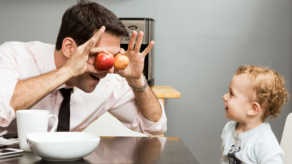 You're the apple of my eye son! Groan. Image: Getty