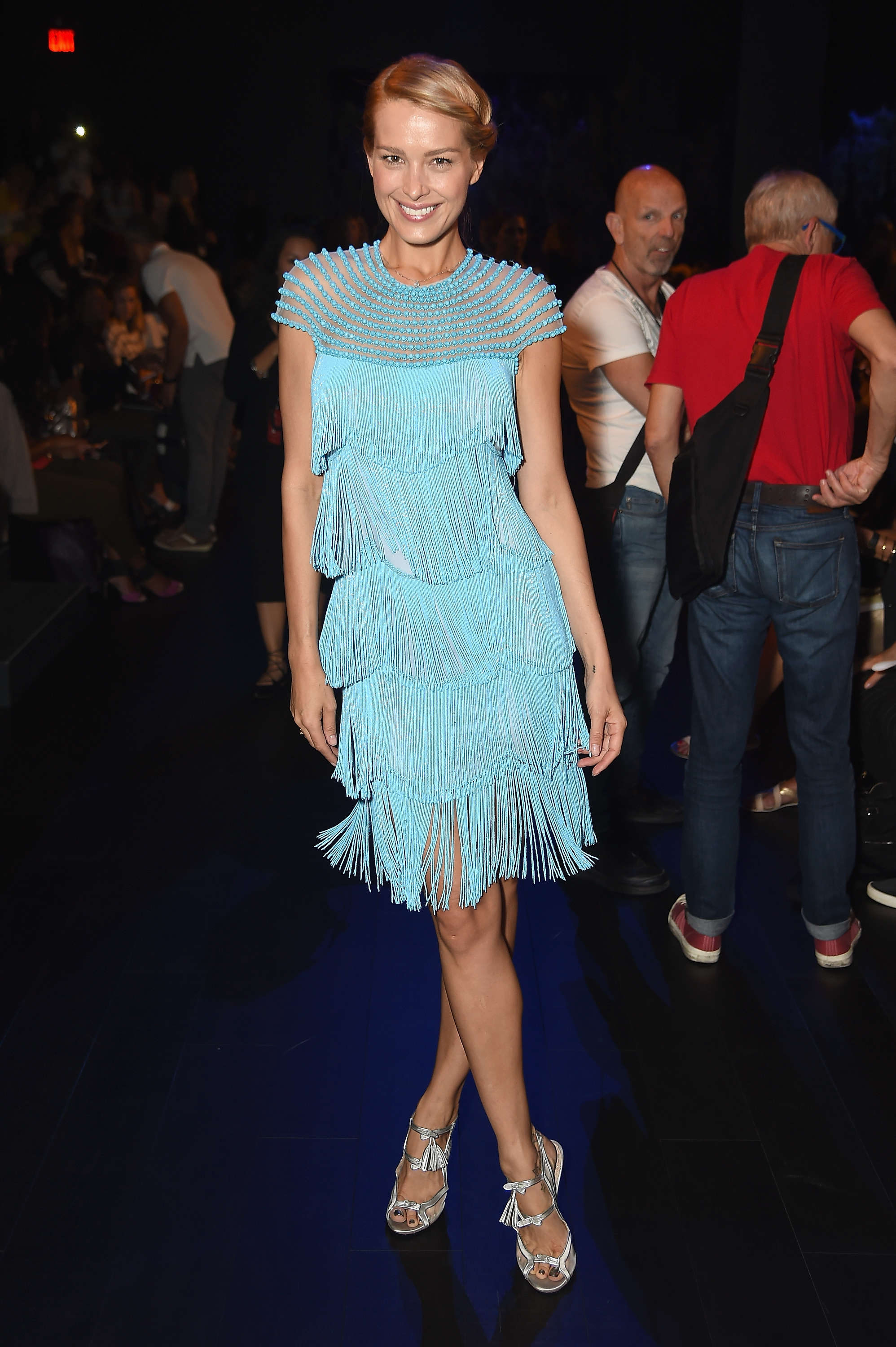 <p>It's a trend worth getting in a flap about with fringing take over the runway at New York Fashion Week.</p> <p>Swimsuit model and tsunami survivor Petra Nemcova showcased the fluid appeal of fringing in the front row of Naeem Khan's New York Fashion Week show, looking like a Malibu surfer 1920s flapper.</p> <p>Disney actress Peyton List had a more metallic approach tot he trend that looks set to take over from feathers as the embellishment you want on your next evening out.</p> <p>Naeem Khan made sure that there was plenty of fringing on the runway with his bride offering more shimmy and shake than your local car wash.</p> <p>Khan doesn't have a monopoly on fringe with Alexander Wand, Anna Sui, Calvin Klein and Monse all demonstrating the versatility of stripping on rather than stripping off.</p>