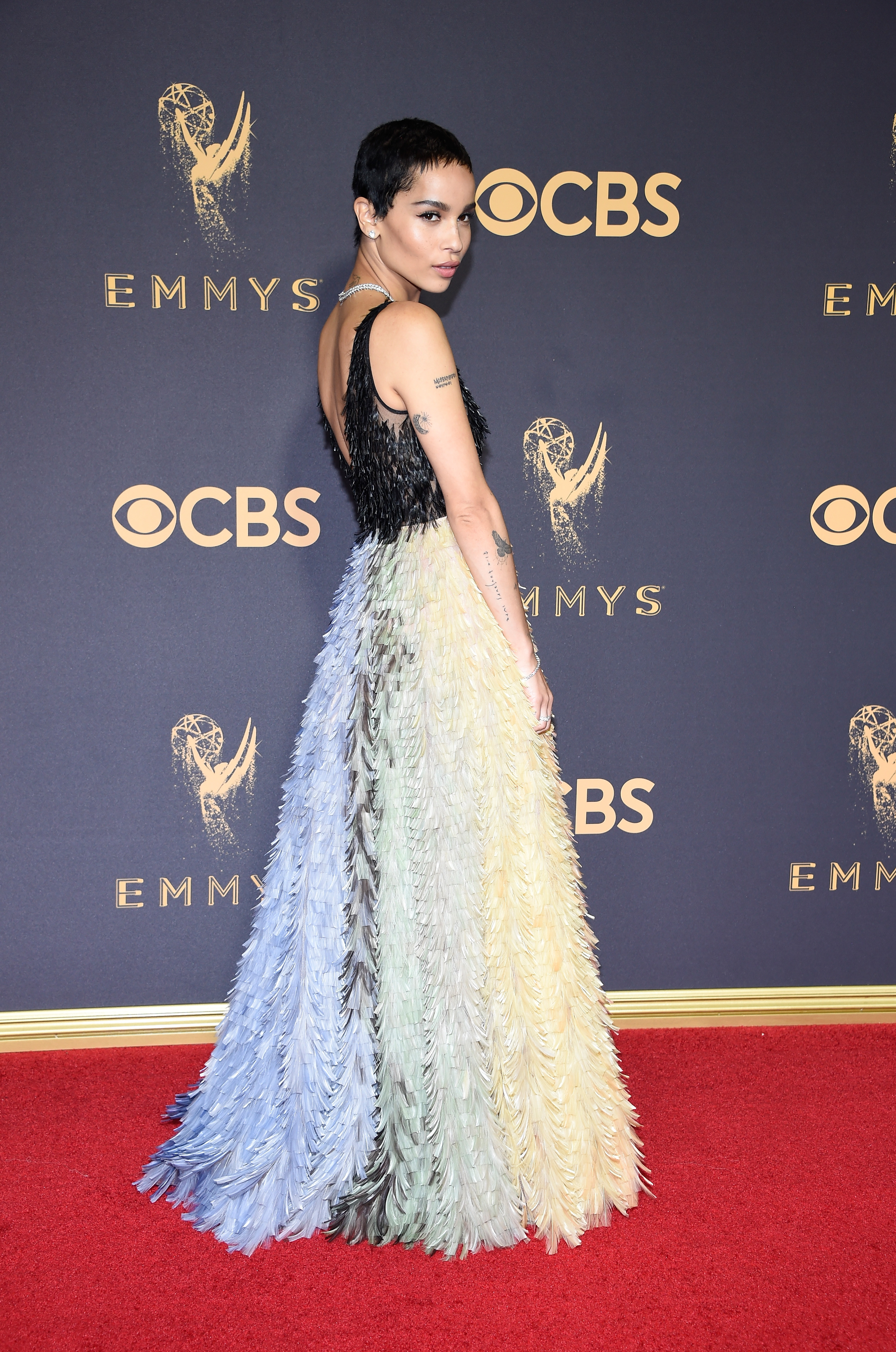 "<p>On the red carpet fashion rankings <a href=""http://style.nine.com.au/2017/09/18/08/21/style_emmy-awards-2017-red-carpet"" target=""_blank"" draggable=""false"">the Emmy Awards </a>held annually to celebrate the best  television  has to offer, sits somewhere between the Logies and the Oscars. </p> <p>This year Australian actresses Nicole Kidman and<em> The Handmaid's Tale</em> star  Yvonne Strahovskiwon big in the sartorial stakes, while regular red carpet darlings Reese Witherspoon and Heidi Klum were on a fashion losing streak.</p> <p>We have rounded up the best and worst red carpet looks from this year's Emmy Awards.</p> <p>WIN<br /> Zoë Kravitz in Christian Dior haute couture<br /> <br /> </p>"