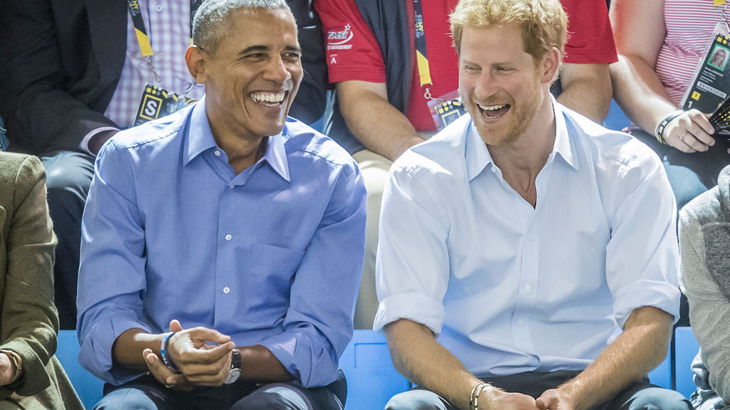 Barack Obama and Prince Harry Invictus Games