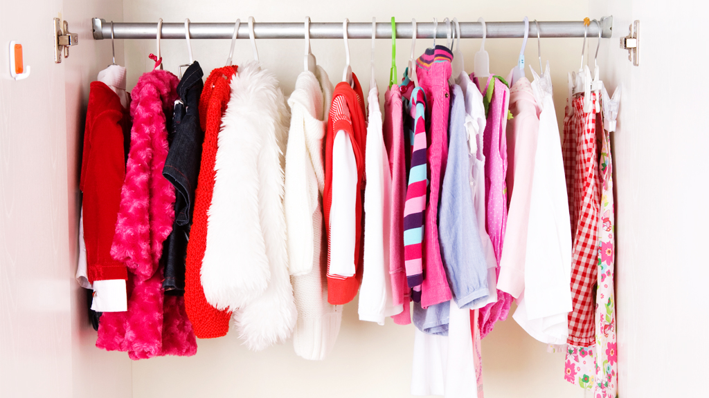 Straighten up: let children select five garments they would like to donate. Image: Getty