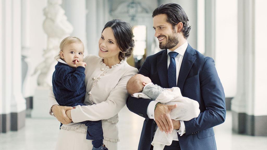 Prince Carl Philip and Princess Sofia  with Prince Alexander and Prince Gabriel, October 2017