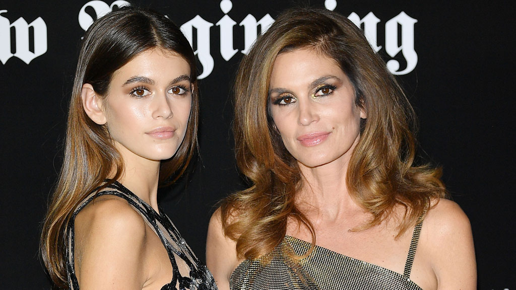 Kaia, 16, and her mama supermodel Cindy Crawford. Image: Getty.
