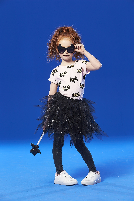 "Cotton On <a href=""http://cottonon.com/AU/tori-tulle-skirt/772279-03.html?dwvar_772279-03_color=772279-03&cgid=#q=halloween&lang=en_AU&start=19"" target=""_blank"">Tori Tulle Skirt, $34.95</a> and <a href=""http://cottonon.com/AU/girls-short-sleeve-halloween-tee/782292-01.html?dwvar_782292-01_color=782292-01&cgid=#q=halloween&lang=en_AU&start=1"" target=""_blank"">Batgirl Tee Shirt, $22.95.</a>"