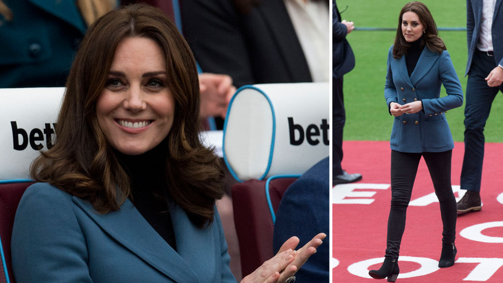 Kate Middleton attends the Coach Core graduation at West Ham United stadium, October 2017.