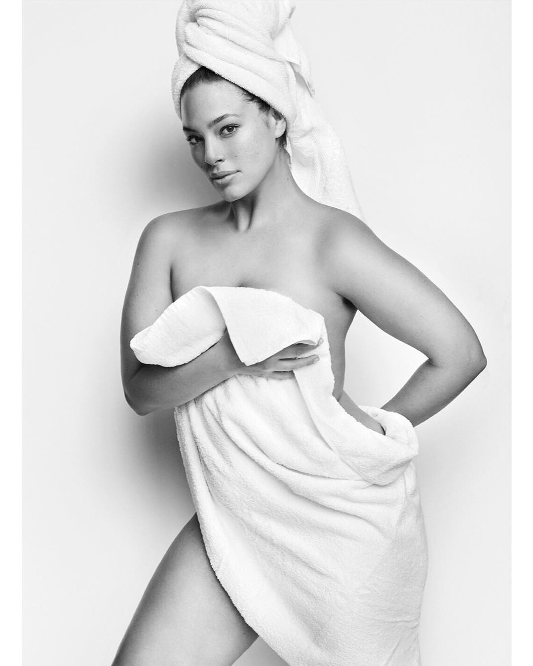 "<p>Us mere mortals aren't at our best immediately post shower. But that's not something model Ashley Graham has to concern herself about as this incredible pic collection shot by the legendary Mario Testino reveals.</p> <p>The supermodel  is the latest famous face and first-ever plus-size model to strip down for Testino's 'towel series'.</p> <p>The series is exclusive to Testino's Instagram account <a href=""https://www.instagram.com/mariotestino/"" target=""_blank"" draggable=""false"">@mariotestino,</a> and in it A-list models, musicians and other beautiful people pose for the Peruvian photographer in nothing but a pristine white bathrobe.</p> <p>Graham's shot sees her wearing nothing but a towel wrapped around her curves and another holding her hair back.</p> <p>She joins Gisele Bundchen, Kendall Jenner, Blake Lively and other high-profile names who have bared all for the series that was started by Testino in 2013. </p> <p>Kate Moss was the first to appear. And Testino isn't about to reveal who is coming next.</p> <p>""I choose very carefully who I photograph for it—it is only my point of view, no one else has a say in it,"" Testino Told <em><a href=""https://www.vogue.com/article/mario-testino-towel-series"" target=""_blank"" draggable=""false"">US Vogue.</a></em></p> <p>""You can do anything you want—wear it however you want. I have always treasured this kind of freedom: it's rare.""</p> <p>Click through to see some of our favourite shots from Mario Testino's Towel Series. </p>"
