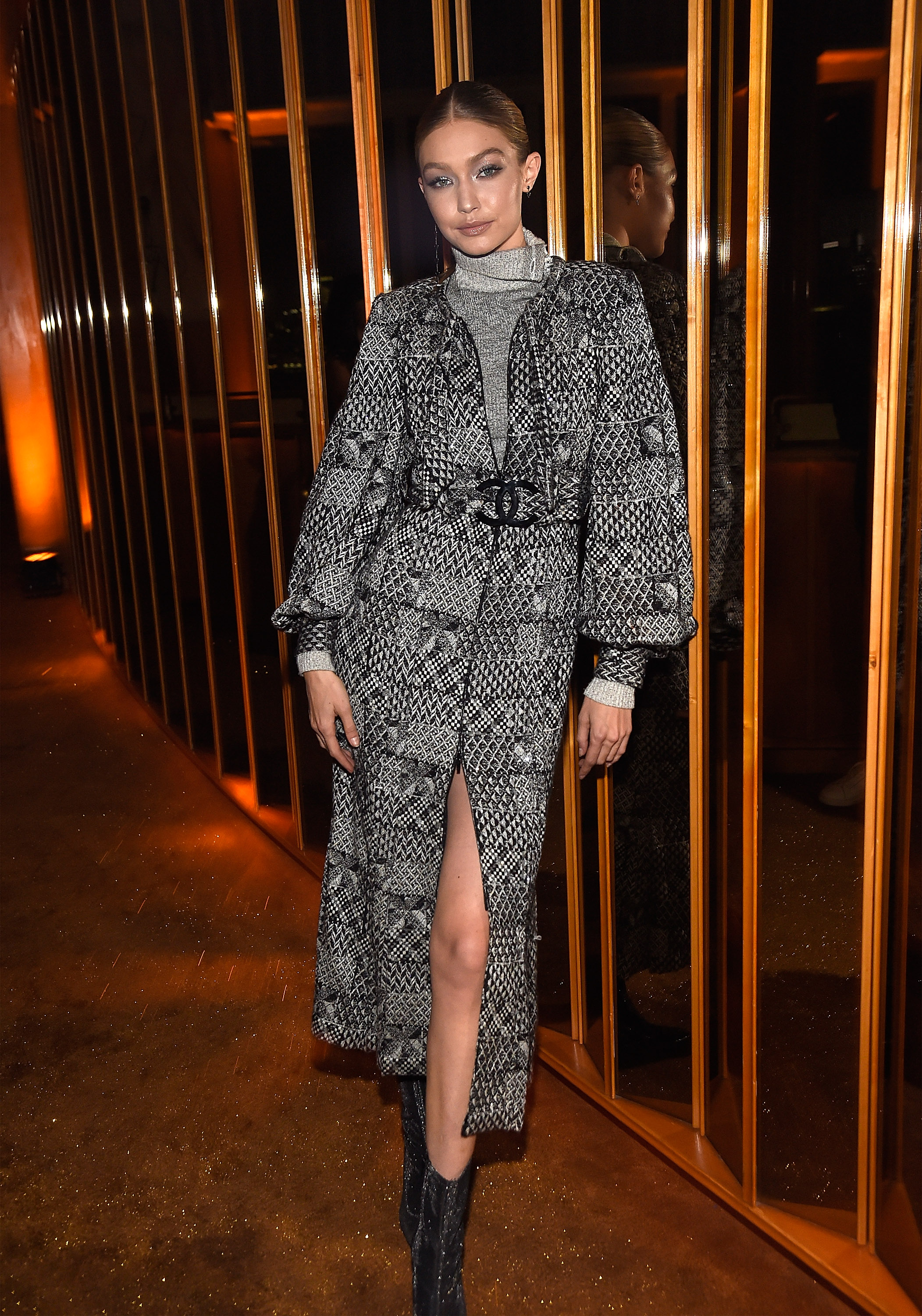"""<p>V Magazine hosted a star-studded bash in New York City, last night, to honour legendary fashion designer Karl Lagerfeld.</p> <p>But one person who may not have been there a few years ago is model Gigi Hadid.</p> <p>The 22-year-old revealed she wasn't sure if the creative director of Chanel even knew her name when she attended her first-ever casting for the French fashion house in 2014.</p> <p>""""It was my first fitting for my first Chanel show that I got, and obviously, you expect for Karl to be there in the fitting when you get there,"""" Hadid said to<a href=""""http://wwd.com/eye/parties/mariah-carey-welcomes-hero-karl-lagerfeld-to-new-york-11034559/"""" target=""""_blank"""" draggable=""""false"""">Women's Wear Daily.</a></p> <p>""""But I wasn't quite prepared because the second I walked into the building Karl and Anna (Wintour) walk out together, going to lunch — and I hadn't met either of them yet,""""</p> <p>""""So, walking into that and just having to introduce myself like 'Hi, I'm Gigi, I don't know if you care'.""""</p> <p>Now, as one of Lagerfeld's go-to models, Hadidarrived last night in head-to-toe Chanel alongside her sister Bella and mother Yolanda. </p> <p>The stylish trio joined other big names in the fashion and entertainment industries such as Naomi Campbell, Joan Smalls and Australian film director Baz Luhhrman, to celebrate the illustrious career of Lagerfeld.</p> <p>Mariah Carey finished off the night with a performance of  some of her biggest hits such as 'Touch my body', 'Hero' and 'We belong together'.</p> <p>Click through to see more of Gigi, Bella and  the other stylish celebrities who came to celebrate Karl.</p>"""