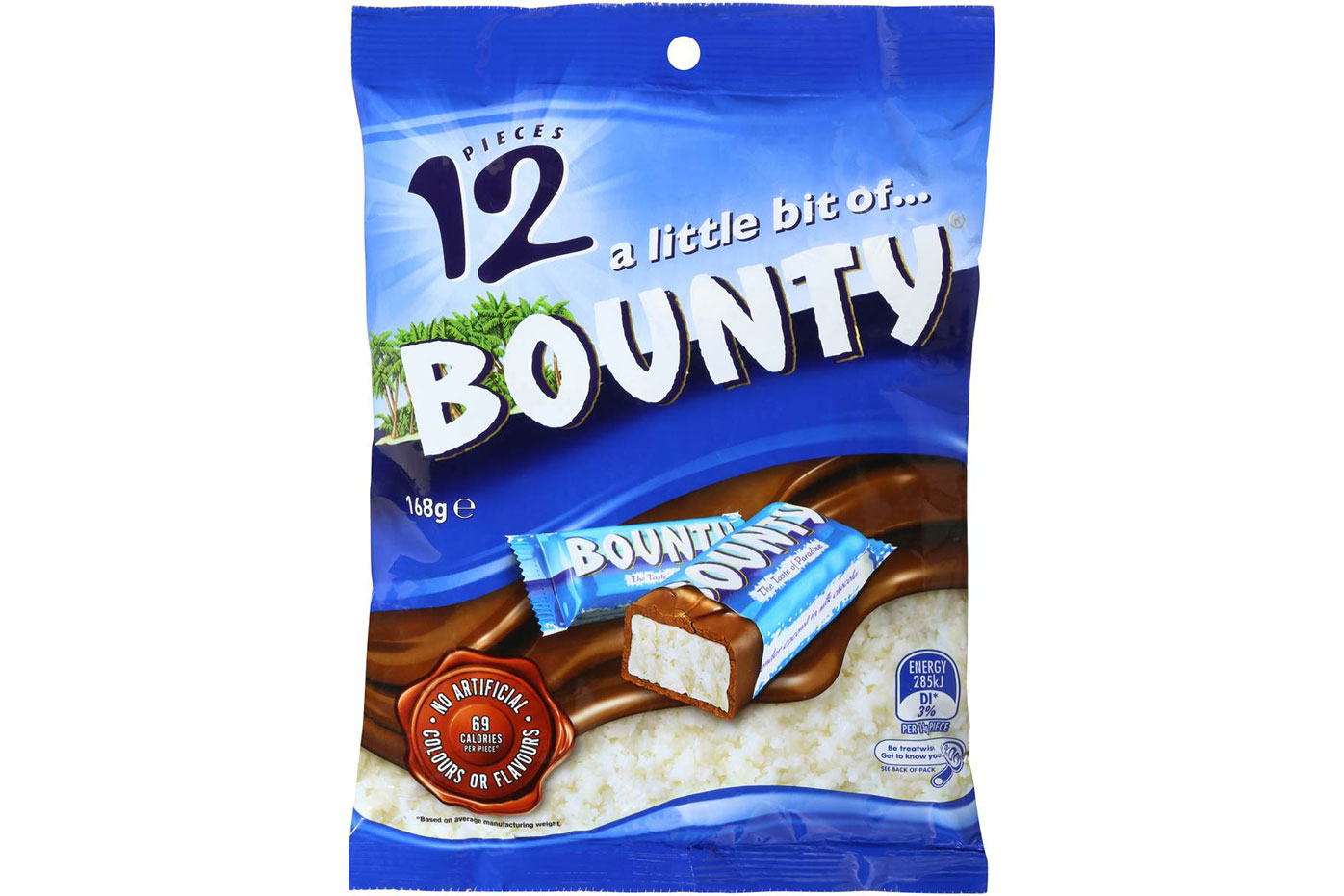 Fun-size Bounty: More than 1.5 teaspoons of sugar