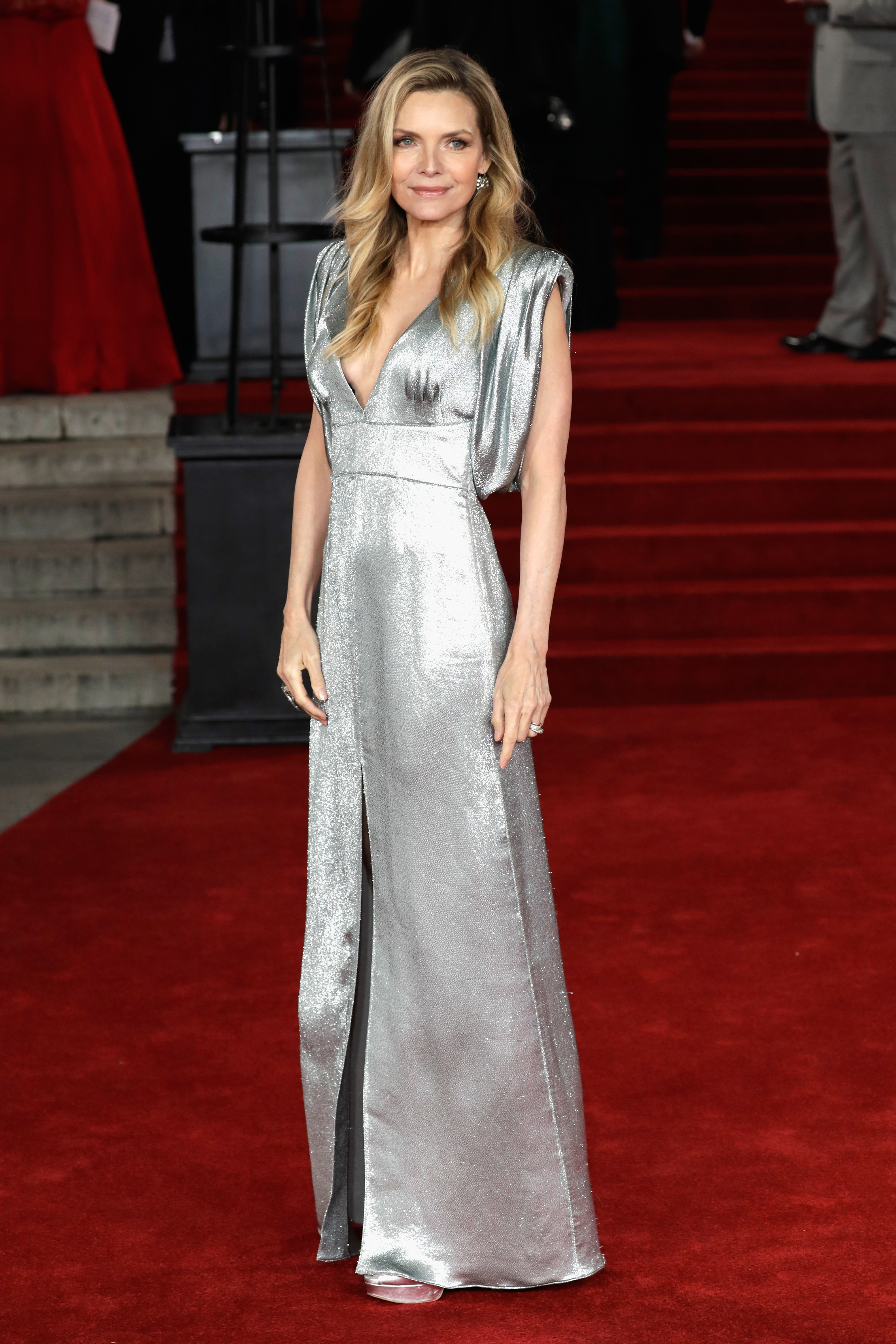<p>Michelle Pfeiffer looked undeniably incredible at the London premiere of Murder on the Orient Express on the weekend. </p> <p>The Academy-Award shone on the red carpet in a liquid silver Prada gown with a deep V-neck and a slit in the middle, which she complemented with  minimal makeup and loose waves.</p> <p>Pfeiffer's disco ball-inspired gown proved that not only is she capable of still ruling a red carpet at age 59, but  that there is no age limit when it comes to rocking a head-to-toe glitter look.</p> <p>Glitter has been the standout trend this year on the runways where disco balls descended balls on the toes of models at Chanel, Miu Miu and Yves Saint at Paris Fashion Week in March.</p> <p>And with renowned makeup artists such as Pat McGrath and Val Garland bringing glitter into the beauty bag with sparkly lips and shimmery eyelids, this isn't a trend that is exclusive to the wardrobe.</p> <p>Click through to inject some sparkle to your life with some of our favourite glitter pieces that you need to invest in this Spring.</p>