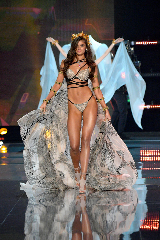 "<p>It's mistakenly called the fashion Olympics but the <a href=""https://style.nine.com.au/2016/12/01/07/46/victorias-secret-2016-paris-gigi-bella-adriana-kendall"" target=""_blank"">Victoria's Secret</a> runway show is more of a model marathon, showcasing the women who make striding in sequinned underwear million dollar businesses.</p> <p>Even with Balmain designer Olivier Rousteing enlisted to design the wings for Jasmine Tookes, the gaudy concoctions worn by Adriana Lima, Allesandra Ambrosio, Sara Sampaio, Martha Hunt, Georgia Fowler and Australian newcomer Victoria Lee have more to do with pin-up fantasies than style.</p> <p>With Chinese visa troubles preventing Katy Perry and Gigi Hadid from entering the country former One Direction singer Harry Styles and models who have not wished the Dalai Lama a happy birthday were left to provide the fireworks that add glamour and glitz to the eagerly-anticipated annual event.</p> <p>See the many lingerie looks from the world's top models in China.</p>"
