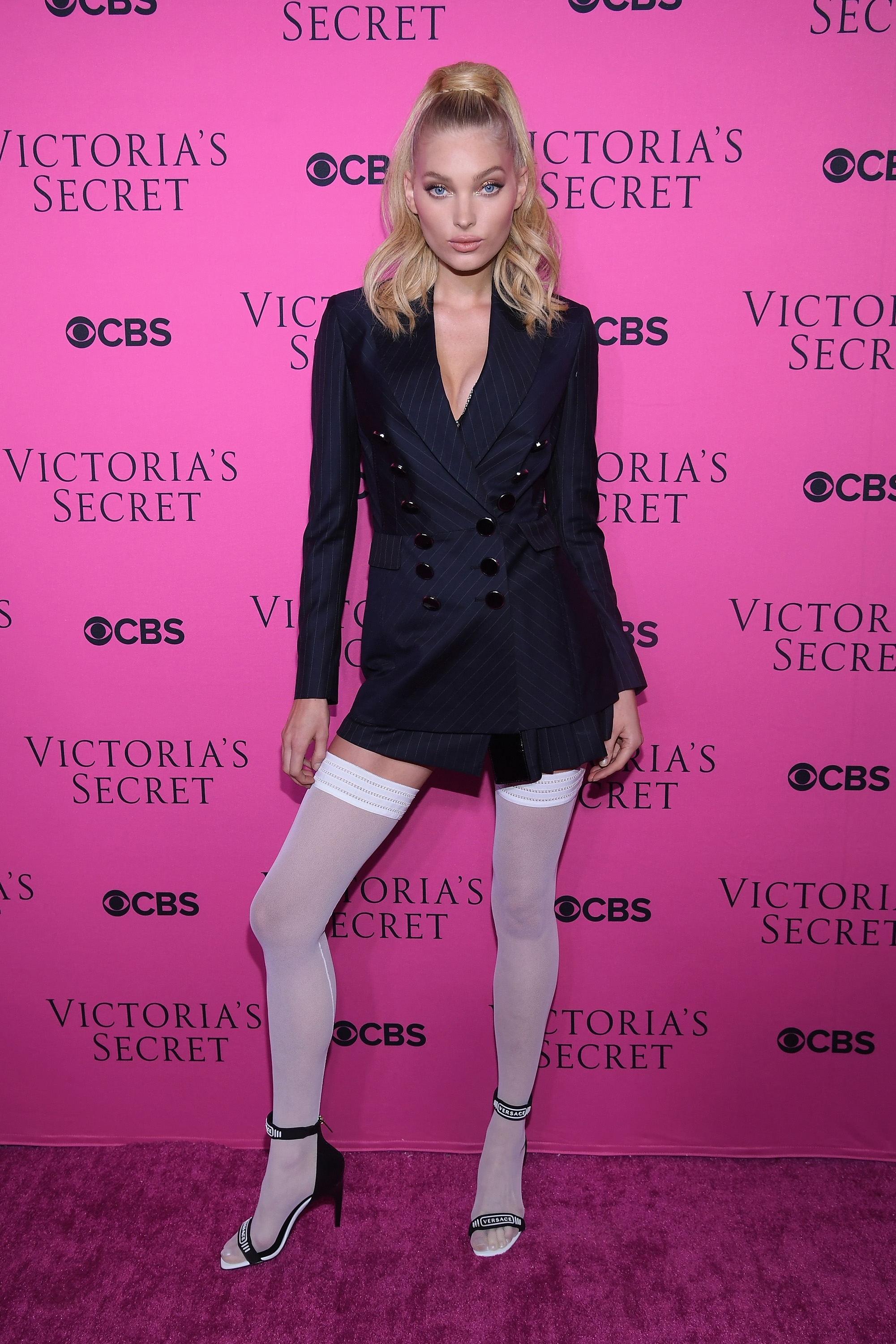 """<p>Spending most of their runway time for <a href=""""https://style.nine.com.au/victorias-secret"""" target=""""_blank"""">Victoria's Secret</a> barely covered in lace, feathers and wings, the superstars of the runway took advantage of the opportunity to dress up at a viewing party for the annual extravaganza.</p> <p>Bella Hadid, Martha Hunt and Adriana Lima were all on hand to dress up and celebrate the screening of the show staged in Shanghai.</p> <p>Sara Sampaio squeezed into an Aadnevik mini dress while Maria Borges looked like molten mustard in a skintight dress from Cushine et Ochs.</p> <p>It was Bella Hadid who managed to steal the show in a snakeprint dress. Latex generally grabs attention.</p> <p>Elsa Hosk (pictured) went for a Gaultier meets Madonna inspired look.</p> <p></p> <p></p>"""
