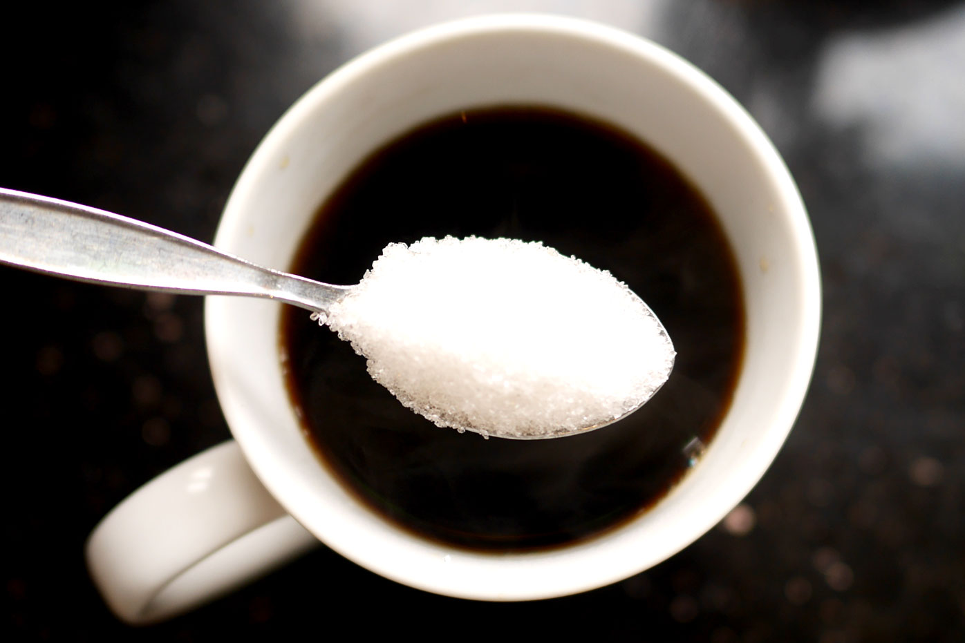 A teaspoon of sugar is about 4g