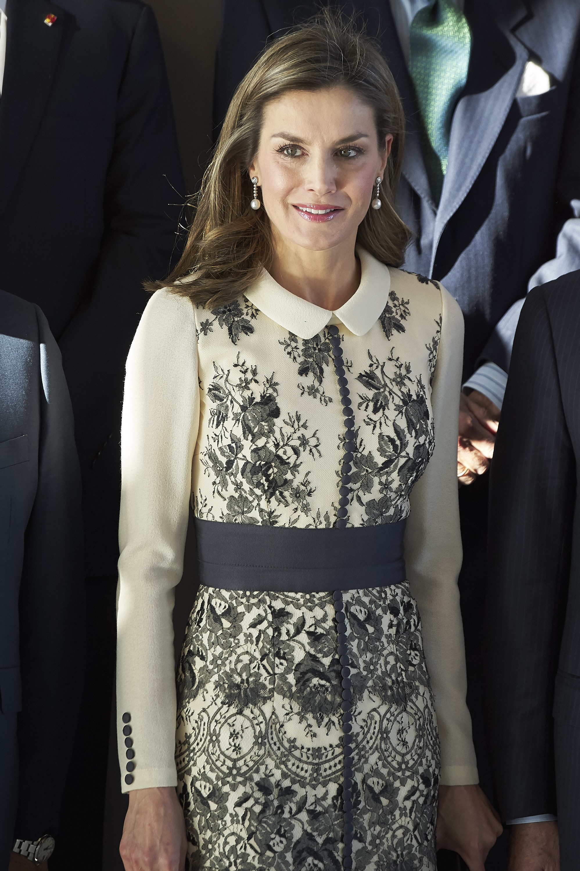 "<p>Queen Letizia of Spain has once again claimed Kate Middleton's crown when it comes to being the world's most stylish of royal.</p> <p>Known for her penchant for recycling designer outfits, for an appearance at the Prize for Magistral Action 2017 in Madrid, the former newsreader made a sartorial statement of a different kind.</p> <p>The Spanish royal donned a chic floral coat-dress from Spanish designer Felipe Verla that packed a serious style punch. She paired the creamy white coat decorated with lace-and-floral embroidery with a pair of pumps from luxury shoe brand Magrit and a tote bag from Nina Ricci.</p> <p>The look was feminine, fresh and showed that having to wrap up in cold climate doesn't mean comprising in the style department.</p> <p>The Duchess of Cambridge is also a fan of the statement coat. The wife of Prince William<a href=""https://honey.nine.com.au/2017/11/15/02/16/duchess-of-cambridge-keeps-baby-bump-hidden-on-solo-royal-engagement"" target=""_blank""> donned a loose-fitting long-line caramel coat</a> for a visit to the Hornsey Road Children's Centre in London in late November, but the look didn't hit the exact same sartorial notes that Letizia did.</p> <p>Burberry, Prada and Carolina Herrera are just some of the designer names the Spanish Queen has donned over the years.</p> <p>Her ability to mix and match budget pieces from stores such as Zara and Mango with edgy couture attire has impressed fashion fans all over the world.<br /> <br /> Click through to see some of the recent fashion wins of Queen Letizia of Spain.</p>"