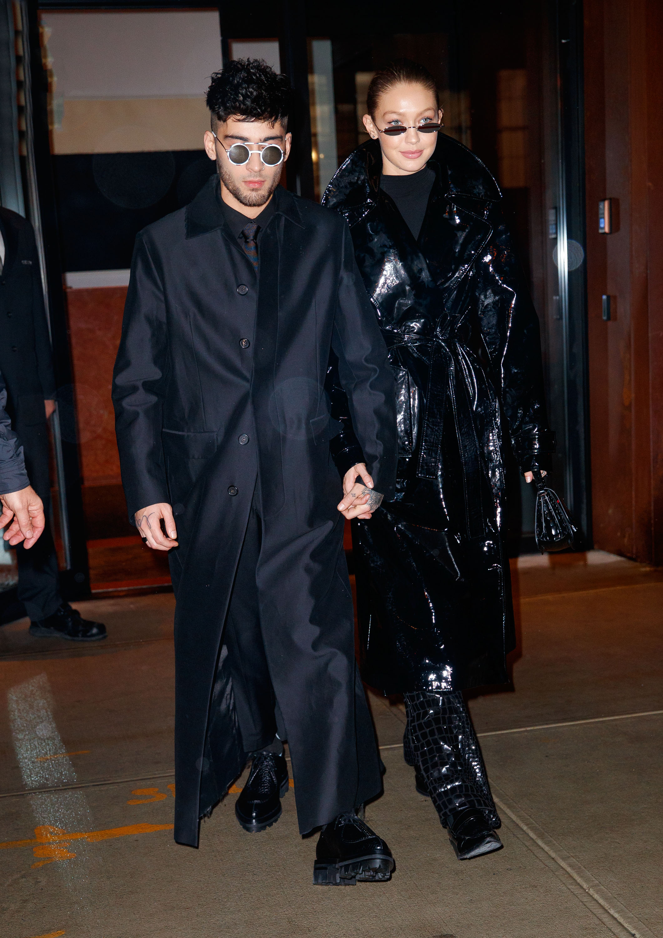 The Insta generation's model and musician power couple, Gigi Hadid and Zayn Malik, made a strong case for couple dressing in New York City earlier this week.<br /> <br /> The pair, in town to celebrate Malik's 25th birthday, stepped out in all-black twinning looks that could very well have been inspired by sci-fi flick, <em>The Matrix.</em><br /> <br /> Rugged up in black trench coats with matching pants and micro sunglasses the duo looked dressed to rebel against the power of computers with Keanu Reeves. <br /> <br /> Malik channelled Neo's style with a Dsquared2 coat, Dior Homme sunglasses, Givenchy trousers and Prada boots. His supermodel girlfriend opted for a glossy PVC coat by Helmut Lang with black patent pants and matching glasses.<br /> <br /> Zigi, who have been together since 2015, have long had a penchant for couple dressing and even posed for the August 2017 cover of <em>US Vogue</em> where they spoke about their love of 'gender neutral dressing'.<br /> <br /> Whether they're Hollywood superstars, sport stars or fashion industry powerhouses, many style-savvy A-list couples haven't been afraid to make a splash in his-and-her outfits.<br /> <br /> Click through to see the A-list couples who have suited up in style.