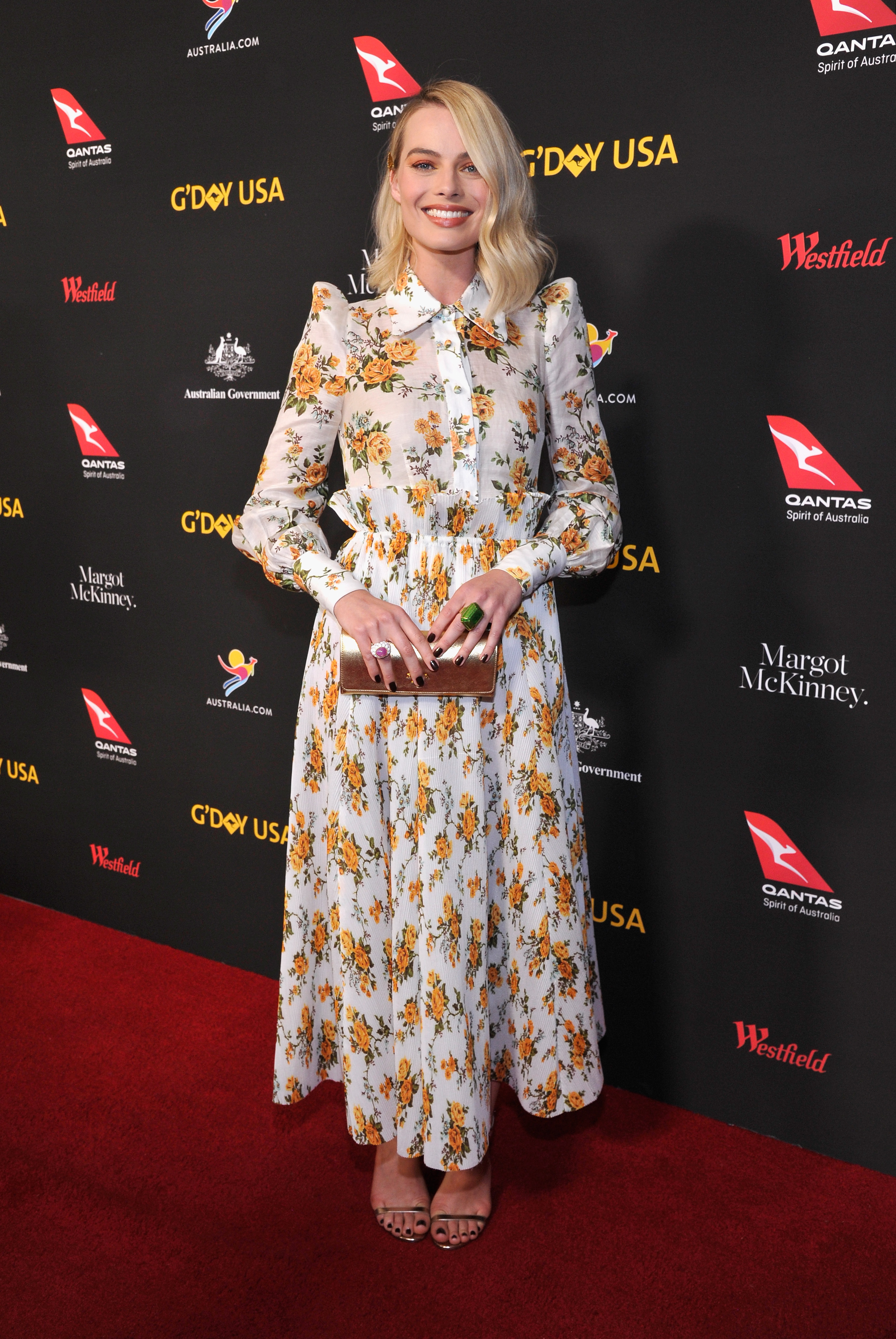 "<p>Australia's biggest names in the U.S have walked the red carpet for the annual G'Day USA gala overnight. </p> <p>The Aussie A-list brought their A-game to the star-studded event in Los Angeles.</p> <p>Margot Robbie, who lead the glamour in Zimmermann, was honoured at the event with an Excellence in Film Award.</p> <p>""You have made me a very proud and humble Aussie tonight,"" Queensland-born Robbie, who earlier in the week was nominated for a best actress Oscar for her performance in <em>I,Tonya</em>, told the crowd.</p> <p>There were no dry eyes in the house when actor Colin Farrell presented the late Heath Ledger's father, Kim, with a lifetime achievement award for his son who died of an overdose ten years ago last week.</p> <p>The G'Day USA gala is in its 15th year and is the highlight of events held across America promoting Australian businesses, tourism, film, food and wine.</p> <p>Click through to take a take a look at the Aussie's wowing on the red carpet.</p>"