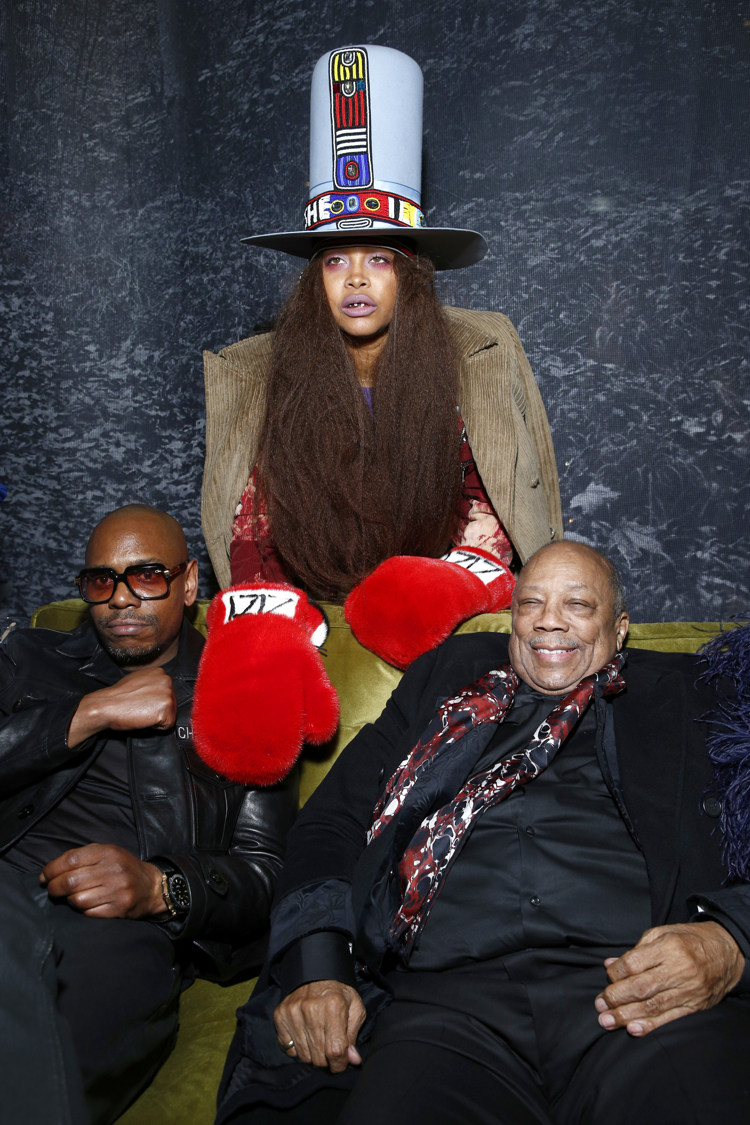 Dave Chappelle, Erykah Badu and Quincy Jones attend the Universal Music Group's 2018 After Party in NYC