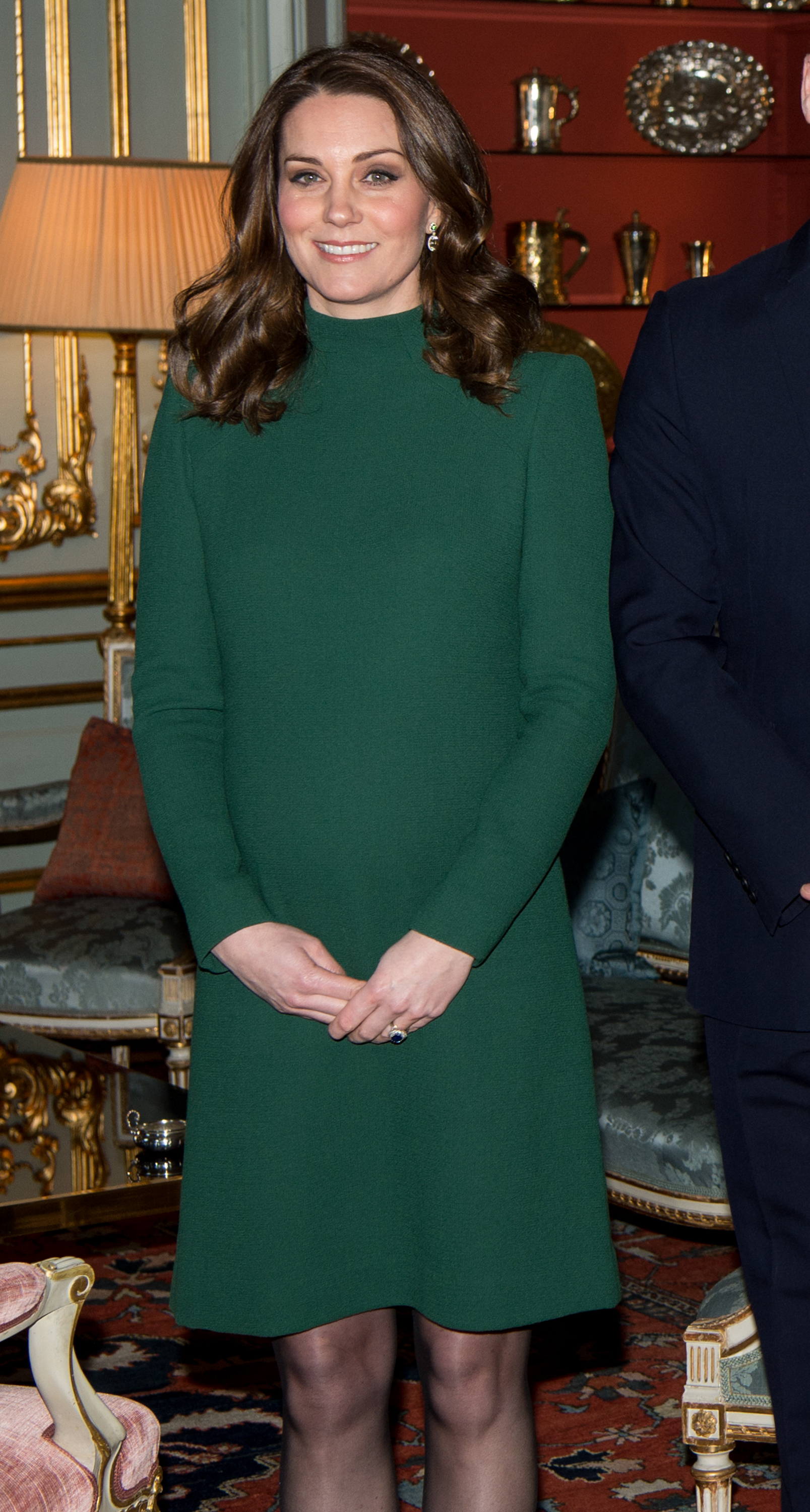 "When it comes to maternity clothing the Duchess of Cambridge's third pregnancy has induced cravings for colours of the rich, warm variety.<br /> <br /> For a meeting with the Swedish royal family as part of her official royal tour with Prince William, the 36-year-old opted for an eye-catching emerald green dress by Catherine Walker.<br /> <br /> The fitted frock featured a high neckline and long sleeves but an above-the-knee hemline kept it feeling youthful.<br /> <br /> The Duchess isn't the fashion-forward celebrity to embrace the regal shade of green. <br /> <br /> Reese Witherspoon was a stand-out on the red carpet at last week's <a href=""https://style.nine.com.au/2018/01/22/09/12/sag-awards-2018-red-carpet-fashion"" target=""_blank"">Screen Actors Guild Awards</a> in a custom Zac Posen gown, which she paired with Jimmy Choo heels and Gismondi jewels.<br /> <br /> And model Jesinta Franklin made the shade her own for an appearance at the Magic Millions race day earlier this month.<br /> <br /> We're seeing this bright, bold colour not only in fashion but jewellery and interiors too. Something tells us this will be the colour to beat in 2018.<br /> <br /> Click through as we take you on a tour of Emerald City and check out some of your favourite celebrities nailing the colour as well as some pieces you can add to your own wardrobe."