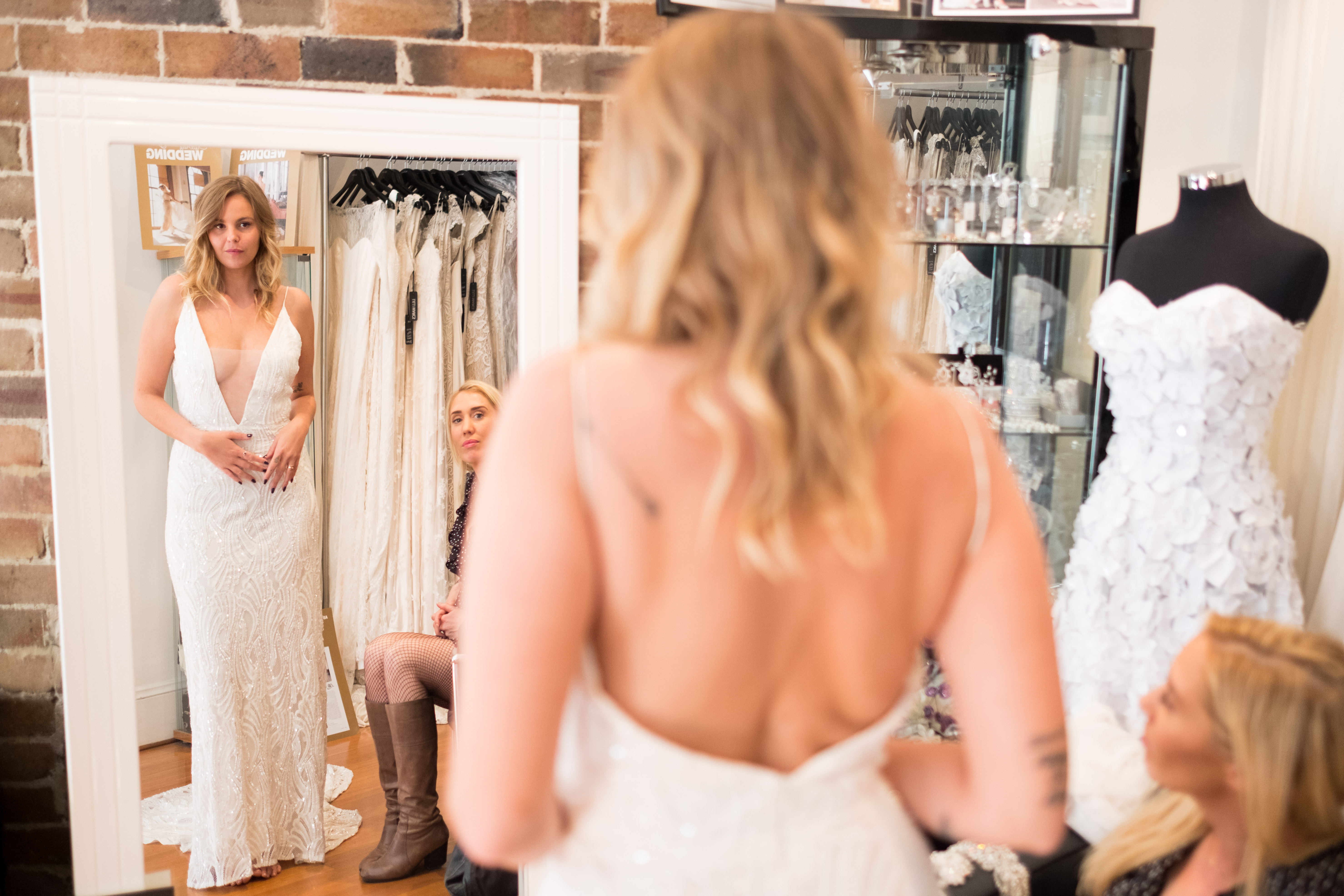 """<p>The long-awaited series return of<a href=""""https://thefix.nine.com.au/married-at-first-sight"""" target=""""_blank"""" draggable=""""false""""><em>Married at First Sight</em></a>is back, and while there is always loads of drama, all eyes are on the beautiful brides.</p> <p>The last single took the plunge last night and walked down the aisle to an unfamiliar face.</p> <p>Blair, 31, from New South Wales had her heart broken when her husband of two years cheated. She now wants more than anything to find her true soul mate and is hopeful she will do just that by putting her trust in the experiment.</p> <p>The new bride took her groom's breath away in a custom design by bridal designer<a href=""""http://lillimarcs.com.au/"""" target=""""_blank"""" draggable=""""false"""">Lilli Marcs</a>.</p> <p>It's safe to say all the ladies have wowed their husbands-to-be in their gowns on the series so far. Take a closer look at the dresses they chose for their big day.</p>"""