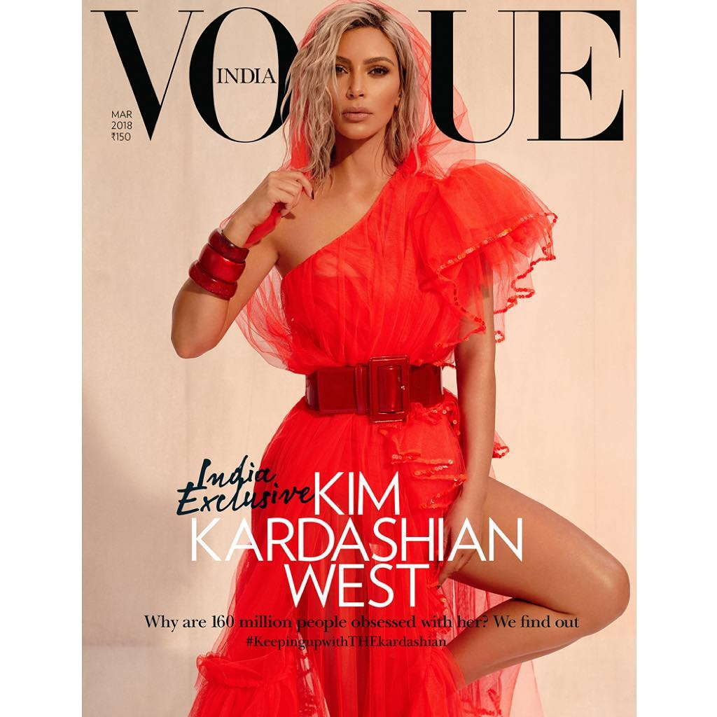 "Kim Kardashian's latest <em>Vogue</em> reincarnation sees the reality star pull on a sari for the Indian edition of the fashion bible, but it's not the bejewelled garb that's seized our attention.<br /> <a href=""https://www.vogue.in/content/exclusive-kim-kardashian-wests-first-ever-interview-with-vogue-india-march-2018-cover-story/"" target=""_blank""><br /> In an interview with Indian-American author, Mira Jacob,</a> the mother-of-three revealed that it's the mistakes she made at the beginning of her career that helped her rise to the top of the fame game.<br /> <br /> ""I didn't think [the show] would go beyond season 1 or 2. And then as things were happening, my mom and I were so excited,"" said Kardashian. <br /> <br /> ""We didn't even know what we were starting, but we knew we were in it together. We made so many mistakes. At first, we would be involved in anything. But it helped us work our way up to now, to launching a beauty brand completely by myself, and funding it,""<br /> <br /> Ten years later, after the family debuted <em>Keeping up With The Kardashians</em> on the E! network, their empire has grown to include multiple beauty lines, clothing ranges, apps, books, tech games and tens of millions of followers on Twitter and Instagram.<br /> <br /> Mrs West's advice to young woman entrepreneurs wanting to follow in their footsteps?<br /> <br /> ""Don't give your name away. Stand your ground on being an owner in your company,"" said Kardashian.<br /> <br /> The 37-year-old has made multiple appearances on the cover of International <em>Vogues</em> including Australia, Spain, Brazil and US. <br /> <br /> Take a look back at some of Kim's most memorable magazine covers. <br />"