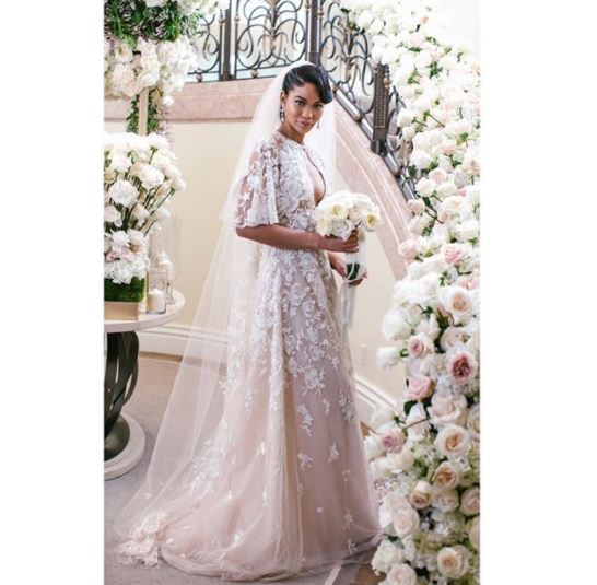 "<p>Not all supermodel weddings involve rock stars, billionaires and hired castles, unless you're Chanel Iman marrying New York Giants player Sterling Shepard.<br> <br> The former Victoria's Secret angel, who has also worked with Burberry, Gucci and Tom Ford, opted for an elegant, lace gown from Zuhair Murad to walk down the aisle in front of the likes of Chrissy Teigen, Jourdan Dunn and stylist Monica Rose.<br> <br> Despite being presented with an array of options by her stylist, Anita Patrickson, the 27-year-old was taken with the ' Camila' gown from the Lebanese designer's A/W'18 collection.<br> <br> ""My stylist ( Patrickson) , really took control and handled dressing the entire wedding party, we've worked together for more than five years, so she has a real understanding of what I gravitate toward,"" Iman told <a href=""https://www.vogue.com/article/inside-chanel-iman-final-wedding-dress-fitting-zuhair-murad-sterling-shepard"" target=""_blank"" draggable=""false"">US Vogue.</a><br> <br> ""I wanted something that I would like for years to come and that wouldn't feel dated as trends change,"" <br> <br> The body-hugging gown also featured a bolero, made from silk tulle embroidered with sparkling 3-D floral appliqués, which took more than 100 hours to create.<br> <br> ""It's a lovely bridal accent that provides today's modern bride with an alternative accessory,"" noted Murad.</p> <p>Thankfully for us, the model has taken to her <a href=""https://www.instagram.com/chaneliman/"" target=""_blank"" draggable=""false"">official Instagram account</a> to share all the candid moments from her special day with her 1.5 million followers.<br> <br> Click through to see more of Chanel Iman's intimate wedding day here.</p>"