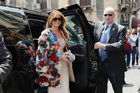 While US president Donald Trump's tenure in the white house has been marred by an alleged election tampering, porn star dalliances and late-night tweets, it's fallen to his wife, Melania, to uphold the image of the first family through her most powerful asset – fashion.<br /> <br /> First as a glamour model, then as the third wife of a billionaire, and now as an enigmatic First Lady, the 47-year-old has let her clothes do the talking for most of her life in the spotlight.<br /> <br /> Through her sartorial selections we have discovered Trump's love of pastel hues, knee-high boots, skinny jeans, pussy bow shirts and $70,000 Dolce & Gabbana coats.<br /> <br /> As the Stormy Daniels saga continues to swirl around the white house, Mrs Trump continues to evolve her style from glamour model to polished professional. <br /> <br /> Let's look back at some of Melania Trump's most iconic style moments