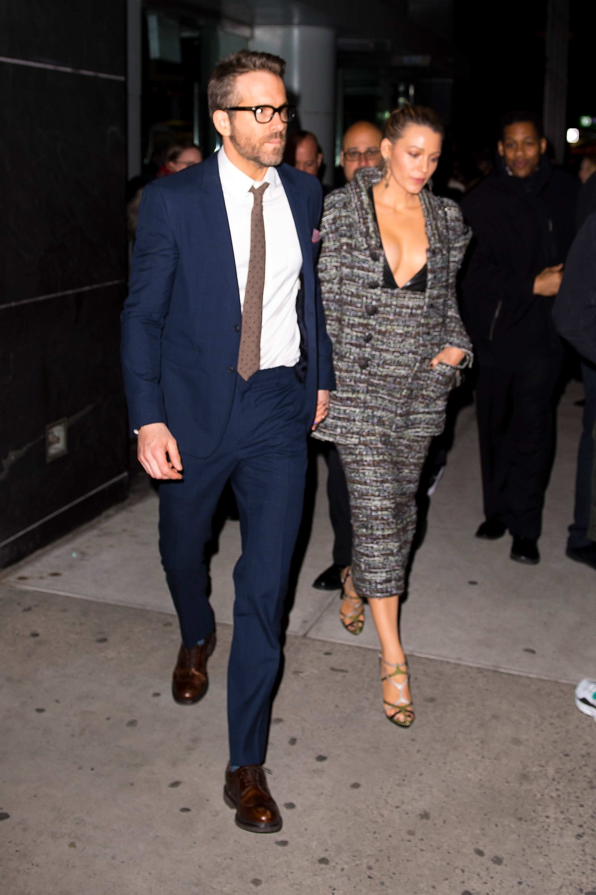 <p>There's no mistaking a power couple, especially one that knows how to dress.<br /> <br /> Point in case, Ryan Reynolds and Blake Lively. The fashion-forward pair made a strong case for a matching look  as they stepped out in matching suits at the premiere of <em>A Quiet Place</em> last night.<br /> <br /> With Lively clad in a co-ordinating ensemble by Chanel Haute Couture and Reynolds in a classic navy windowpane suit with a crisp white shirt, the couple transformed themselves into a modern-day JFK and Jackie O. <br /> <br /> The actors aren't the only high-profile pair to favour a twinning look. Whether they're Hollywood superstars, sport stars or fashion industry powerhouses, many style-savvy A-list couples haven't been afraid to make a splash in his-and-her suits.</p> <p> Click through to see the A-list couples who have suited up in style.</p>
