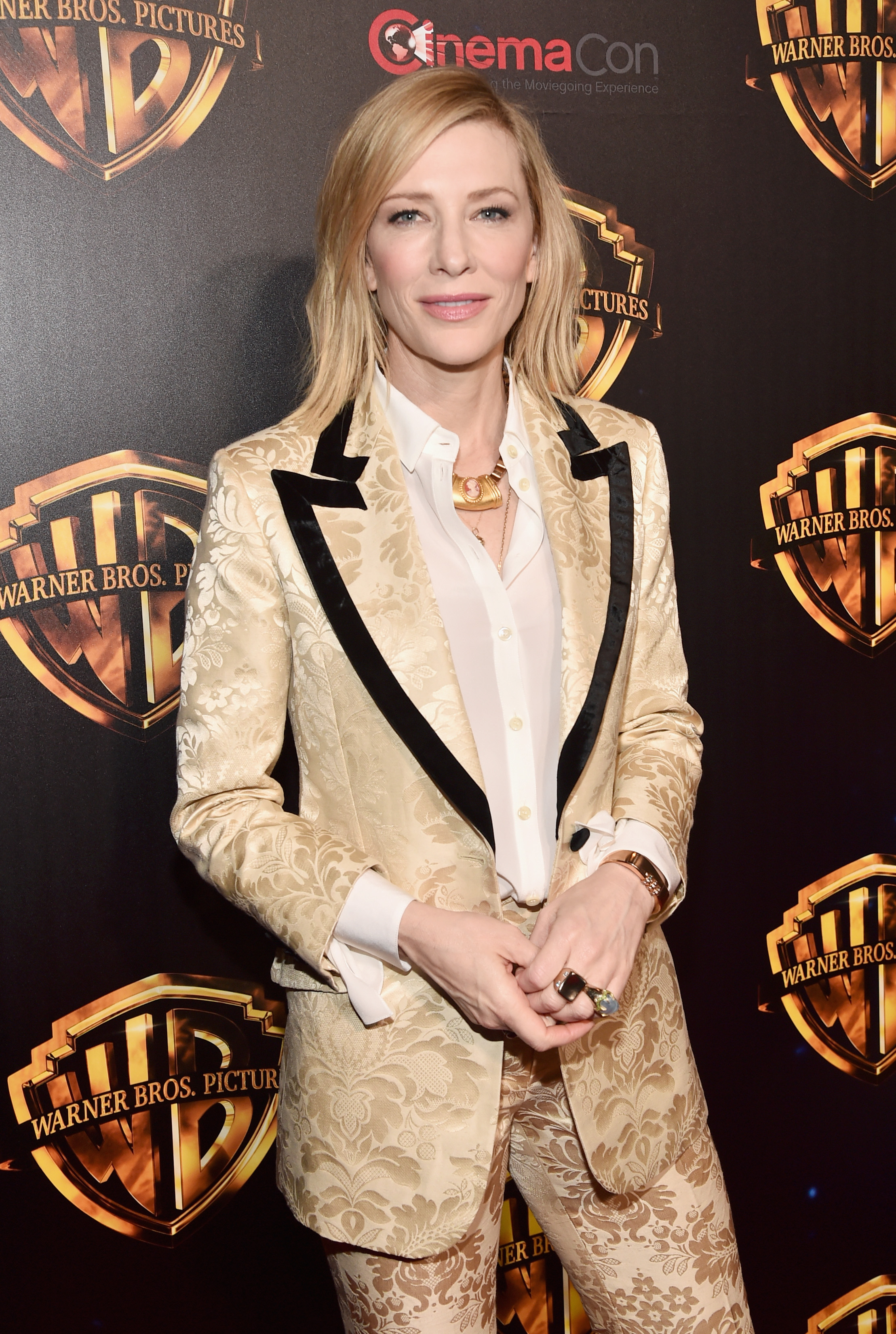<p>Pantsuits have become the go-to uniform for A-listers such as Rita Ora, Olivia Palermo and Kim Kardashian, when they want to communicate the kind of confidence a sheer gown just can't deliver.</p> <p>Point in case, Australian actress and power-dressing aficionado Cate Blanchett.</p> <p>Earlier this week, the Babel star turned to a retro-inspired suit with a soft paisley print from Gucci for an appearance at Warner's Brother's Big Picture presentation at CinemaCon in Las Vegas.</p> <p>Blanchett's suited-up ensemble was more Bowie than Annie Hall and evoked '70s styles favoured by Mick Jagger and Prince.</p> <p>If you're going to start wearing the pants in your relationship with fashion, avoid the trap of looking like an '80s corporate raider by looking for jackets with soft shoulders, trousers that are cropped or flared and prints or pastels that add feminine force without detracting from tailoring that trumps.</p> <p>Click through to see some of our favourite ways to suit up this season.</p>