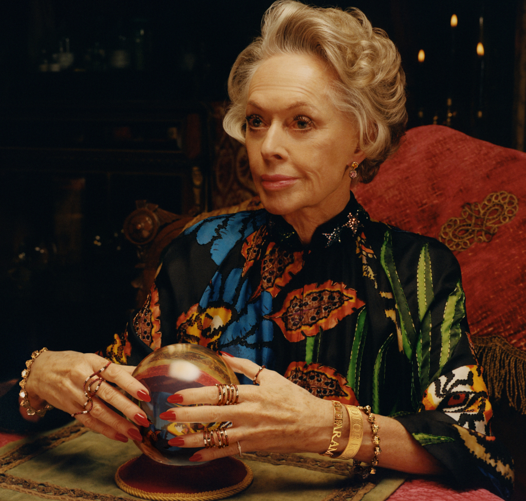<p>The lined face of actress and Hitchcock muse, Tippi Hedren, in Gucci's new 'Timepieces and Jewellery' campaign, is another example of fashion finally accepting the beauty of ageing.</p> <p>The 88-year-old star of <em>The Birds, Pacific Heights</em> and <em>Marnie,</em> stars in a series of images as a glamorous mysterious fortune teller, captured through the lens of Colin Dodgson.</p> <p>The appointment of Hedren in the campaign by the luxury label's creative director, Alessandro Michel, makes it something of a family affair.</p> <p>The Golden Globe winner is mother to actress Melanie Griffith and grandmother to<em> Fifty Shades</em> star, Dakota Johnson, who is the face of Gucci's Bloom fragrance.</p> <p>The Italian fashion house seems to be at the forefront of age diversity in the fashion world. In 2017, 79-year-old actress Vanessa Redgrave posed for their Cruise' 17 campaign.</p> <p>Click through to see the graceful older woman joining Hedren in challenging the standards of beauty.</p>