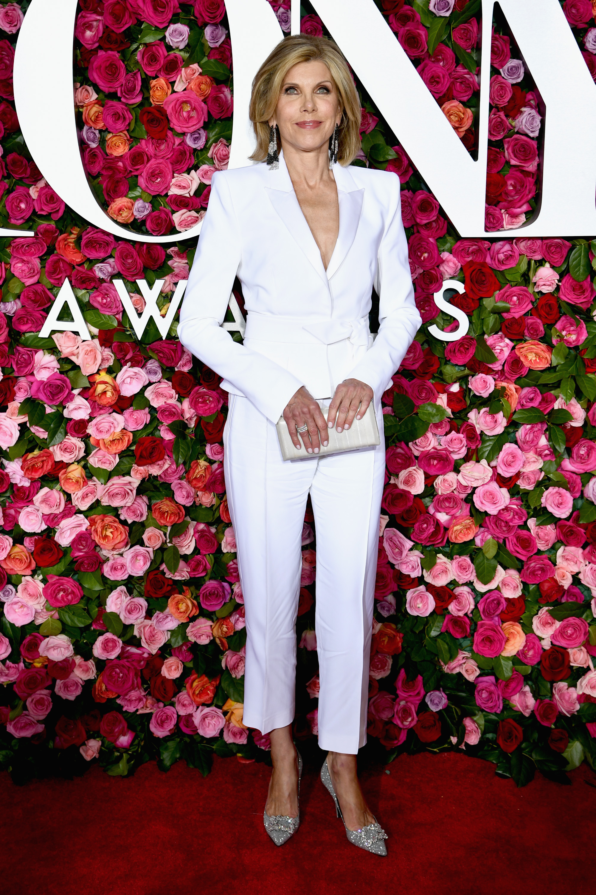 <p>The A-list have come out to celebrate Broadway's biggest night at the 72nd annual Tony Award's at New York's Radio City Music Hall.</p> <p><em>The Good Wife</em> star Christine Baranski gave her younger counterparts a run for their money in a chic white pant suit by Alexandre Vauthier, offering a tailored, sleek and structured look. </p> <p>While comedian Tina Fey and actress Kerry Washington brought the sparkle, both dazzling in silver. Washington wore a silver Versace pantsuit with Lorraine Schwartz jewels, while Fey shone in a Thom Browne gown with feather detailing.</p> <p>Click through to take a look at the most talked about looks of the evening.</p>