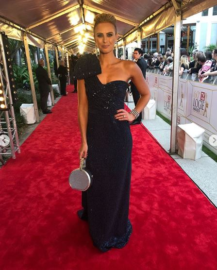 """<p>They may have kept us waiting but Australian TV's night of nights is finally here.</p> <p>The 2018 Logies Awards red carpet has kicked off, and the A-listers of the small screen have brought their sartorial A-game.</p> <p><em>The Today Show</em>'s Sylvia Jeffreys turned heads for all the right reasons in a metallic navy blue gown by Rebecca Valance, complete with a stunning updo and bold drop star earrings by Justine Clenquet.</p> <p>Meanwhile, a pregnant<a href=""""https://style.nine.com.au/2018/07/01/15/14/carrie-bickmore-logies"""" target=""""_blank"""" title=""""CarrieBickmore"""">Carrie Bickmore</a> stunned in a nude, floor-length Paolo Sebastian dress complete with back fringing detail, while she kept her hair in a low pony tail.</p> <p>Click through to take a look at the most-talked about looks of the night.</p>"""
