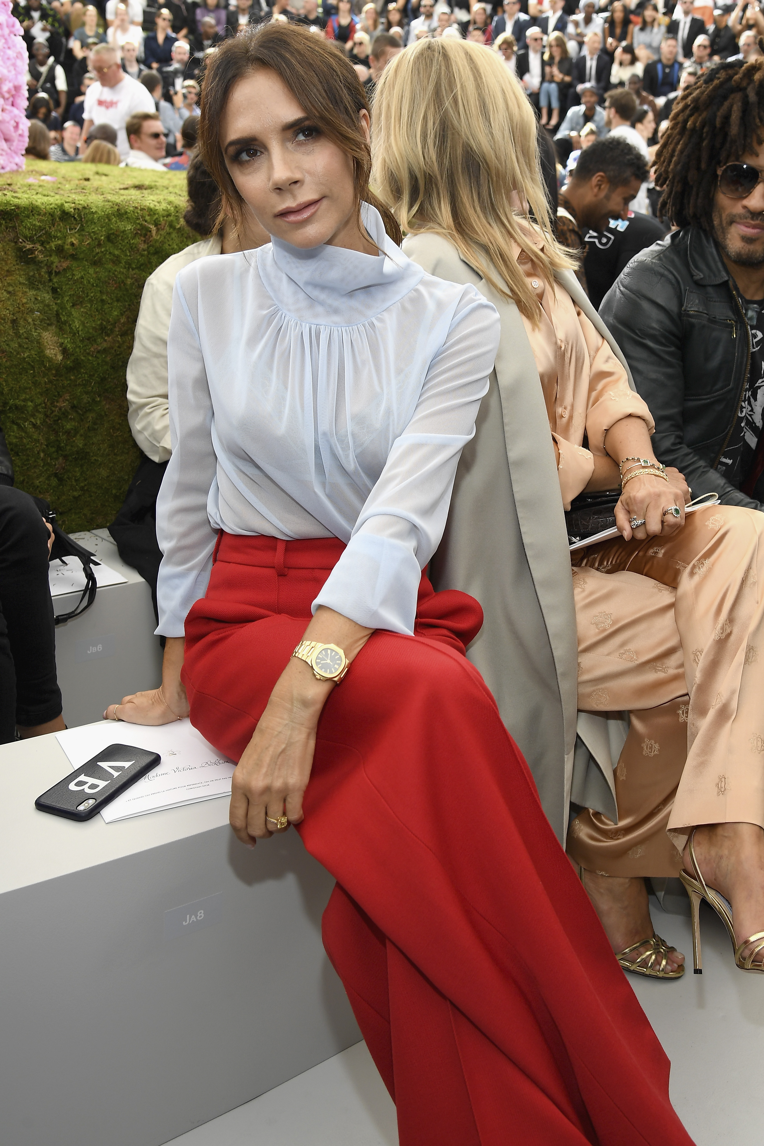 """<a href=""""http://https://style.nine.com.au/2018/02/15/09/05/victoria-beckham-style-evolution"""" target=""""_blank"""" title=""""Victoria Beckham's evolution from Spice Girl to style icon"""" draggable=""""false"""">Victoria Beckham's evolution from Spice Girl to style icon</a> is arguably fashion's greatest Cinderella story. <br /> <br /> Despite cutting ties with denim hotpants and floor-length hair extensions, the designer still has room in her walk-in-wardrobe for one excessive extravagance– engagement rings.<br /> <br /> The former pop star has been spotted wearing 14 different types of eye candy on her finger during her 19 years of marriage to husband, David, with the latest making its debut at Paris Fashion Week over the weekend.<br /> <br /> Clad in a red and white pantsuit of her own design, at Dior Homme's menswear S/'S'19 show, the designer showed off her latest ring- a square-cut yellow diamond set on a platinum pave band- worth an estimated $21, 4195, according to the <em><a href=""""http://http://www.dailymail.co.uk/tvshowbiz/article-5905001/Victoria-Posh-Beckham-shows-4-engagement-rings-David-Beckham.html"""" target=""""_blank"""" title=""""Daily Mail."""" draggable=""""false"""">Daily Mail.</a></em><br /> <br /> The sudden appearance of a new rock on VB's manicured finger comes at a time when the high-profile pair, who tied the knot in July 1999, have been fighting off <a href=""""https://style.nine.com.au/2018/06/12/13/49/david-and-victoria-beckham-kent-and-curwen"""" target=""""_blank"""" title=""""recent divorce rumours."""" draggable=""""false"""">recent divorce rumours.</a><br /> <br /> """"There is no statement due, no divorce, and a lot of Chinese whispers and fake social media news. This is all very bizarre and an embarrassing waste of time,"""" a representative of the pair told <em>The Sun </em>in June.<br /> <br /> The Beckhams announced their engagement in January 1998, with VB donning a three-carat marquise-cut diamond set on a plain yellow-gold band.<br /> <br /> Click through to see the entire engagement ring c"""