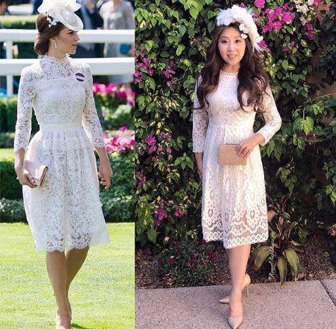 Kate Middleton in Alexander McQueen at Royal Ascot, June 2018