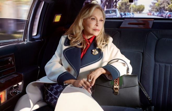 """Hollywood icon and actress, Faye Dunaway, in Gucci's latest campaign, is another example of fashion finally<a href=""""http://https://style.nine.com.au/2018/06/22/10/53/brooke-shields-swimwear-bikini-body"""" target=""""_blank"""" title="""" accepting the beauty of ageing."""" draggable=""""false""""> accepting the beauty of ageing.</a><br /> <br /> The 77-year-old The Thomas Crown Affair star lends her signature poise and elegance to a series of images - snapped by Petra Collins- to promote the luxury Italian label's Sylvie bag.<br /> <br /> Dunaway, who has won an Oscar, three golden globes and an Emmy for her acting work, has been something of a muse to Gucci creative director, Alessandro Michele.<br /> <br /> For his first show at the helm of the fashion in house in 2015, Michele sent models down the runway in red berets, a homage to the actresses' iconic character, Bonnie Parker, from the slick 1967 crime film <em>Bonnie and Clyde.<br /> </em><br /> """"It's lovely to think some of my characters are inspiring the young creatives. I feel very humbled by the idea that I have inspired Alessandro,"""" Dunaway told <a href=""""https://www.vogue.com/article/faye-dunaway-gucci-campaign"""" target=""""_blank"""" title=""""US Vogue."""" draggable=""""false""""><em>US Vogue.</em></a><br /> <br /> We laboured over getting it right; I was a lucky woman, so I chose carefully how my characters would be remembered. I still have a strict eye for detail,"""" she added.<br /> <br /> The Italian fashion house seems to be at the forefront of age diversity in the fashion world. <br /> <br /> 79-year-old actress Vanessa Redgrave and 88-year-old Hitchock muse Tippi Hedren have also lent their legacy and faces to the brand over the past year.<br /> <br /> Click through to see the graceful older woman joining Dunaway in challenging the standards of beauty."""