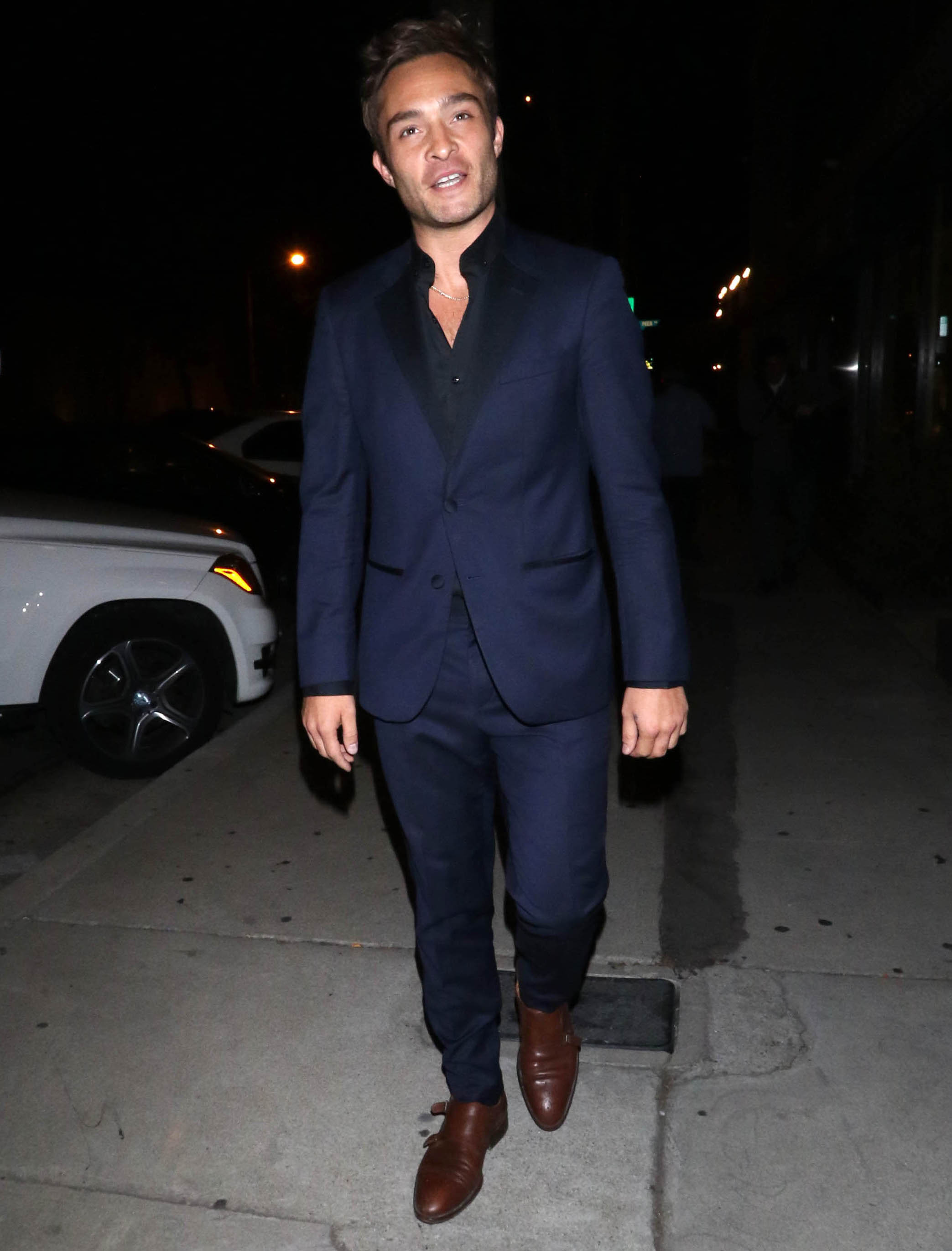Ed Westwick makes first public appearance since rape charges were dropped