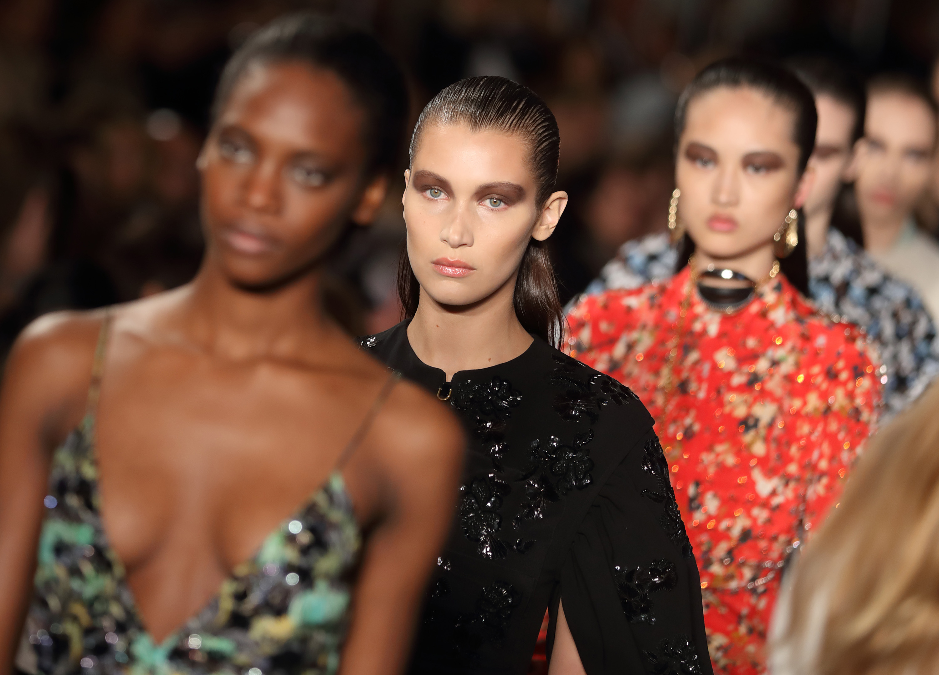 <p>Still without a head designer, Dior - stewarded by Swiss designers Lucie Neier and Serge Ruffieux - delivered a collection that merged French refinement and English eccentricity. Blenheim Palace in Oxfordshire provided a complementary backdrop and gave a nod to the history of the luxury house, while Bella Hadid - with boyfriend The Weeknd watching on from the front row - provided the requisite star power. </p> <p>Click through to see all the looks.</p>