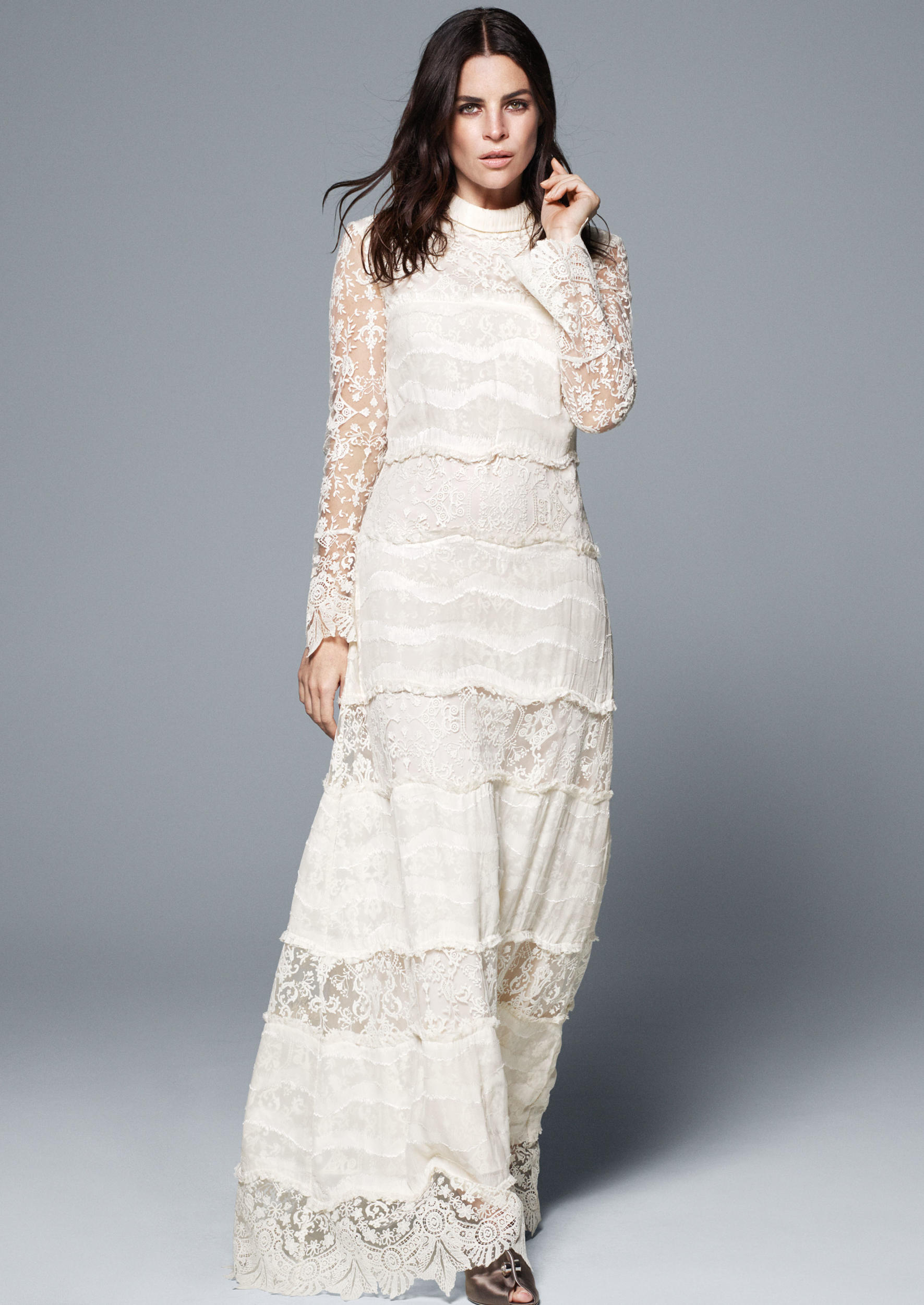 "<p>High street giant H&M is joining the likes of <a href=""http://honey.ninemsn.com.au/2016/01/11/10/31/marchesa-notte-bhldn-spring-collection"" target=""_blank"">Marchesa</a>, <a href=""http://honey.ninemsn.com.au/2015/11/20/08/58/asos-launches-bridal-range"" target=""_blank"">ASOS</a> and <a href=""http://honey.ninemsn.com.au/2015/12/03/09/36/affordable-bridal-dresses-self-portrait-bergdorf-goodman"" target=""_blank"">Self-Portrait</a> in the affordable bridal wear category, unveiling a new Conscious Exclusive collection containing three wedding dresses. Modelled by editor and ultimate in French girl cool, Julia Restoin-Roitfleld, the collection was inspired by archive pieces from Paris' Musée des Arts Décoratifs and is made more sustainably than the main line. If you're not getting hitched any time soon, you'll also find plenty of wedding guest-worthy pieces that won't cost more than the gift.</p><p>The range is available from 7 April online and in select stores. Click through to see every piece from the collection.</p>"