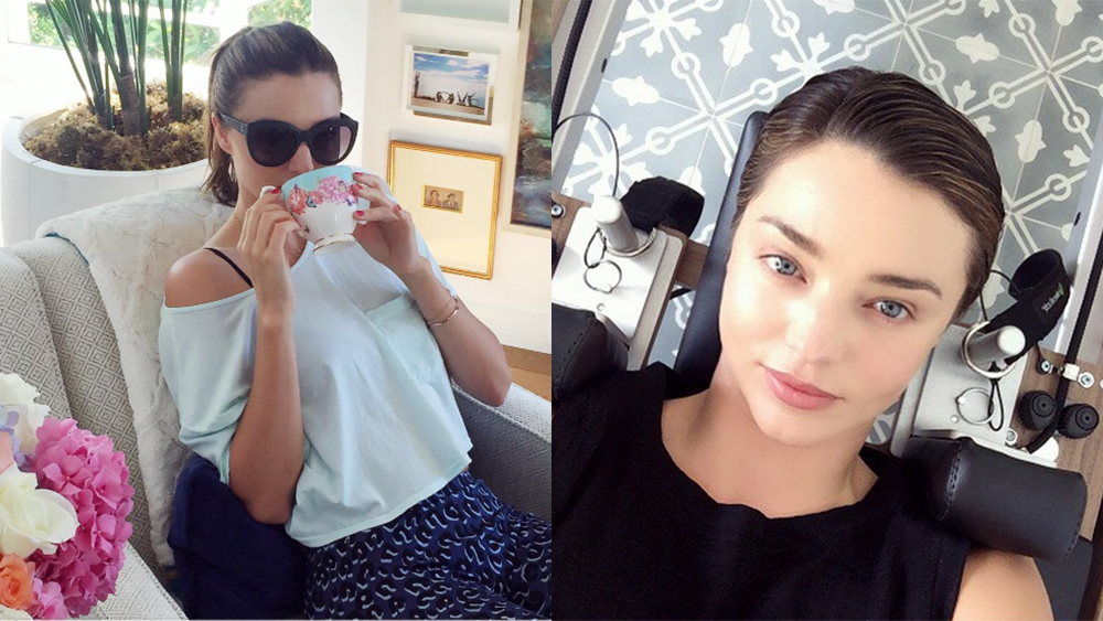 How to do Miranda Kerr's green tea steam facial at home