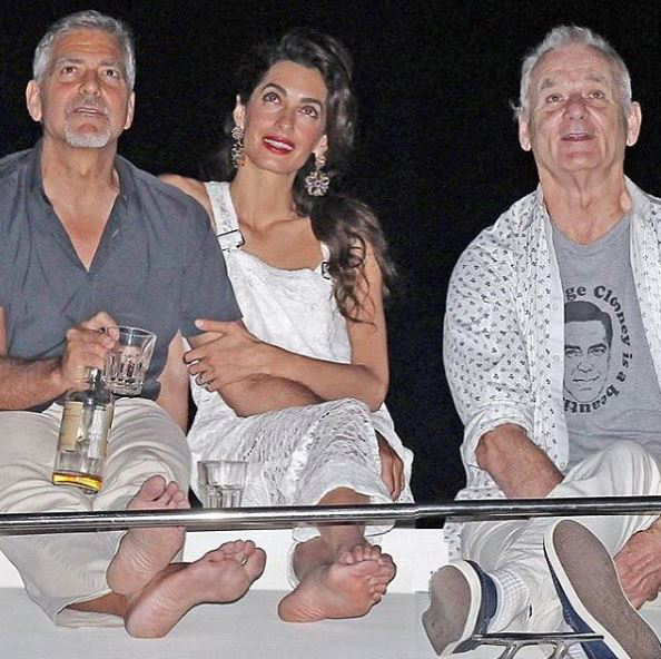 "<p>Celebrities have long used fashion to publicly cement their relationships, but we can't help thinking this latest sartorial outing from Bill Murray might be a case of the comedian gently trolling Hiddleswift. Taylor Swift's boyfriend Tom Hiddleston sent the internet into meltdown when he was spotted frolicking on the beach recently in an ""I heart T.S."" tee. But Murray has gone one step better for pal George Clooney, making his feelings known with a T-shirt declaring ""George Clooney is a beautiful man"". Extra kudos for wearing it in front of Clooney's wife, Amal.  </p> <p>Click through to see the other memorable sartorial love letters.</p>"