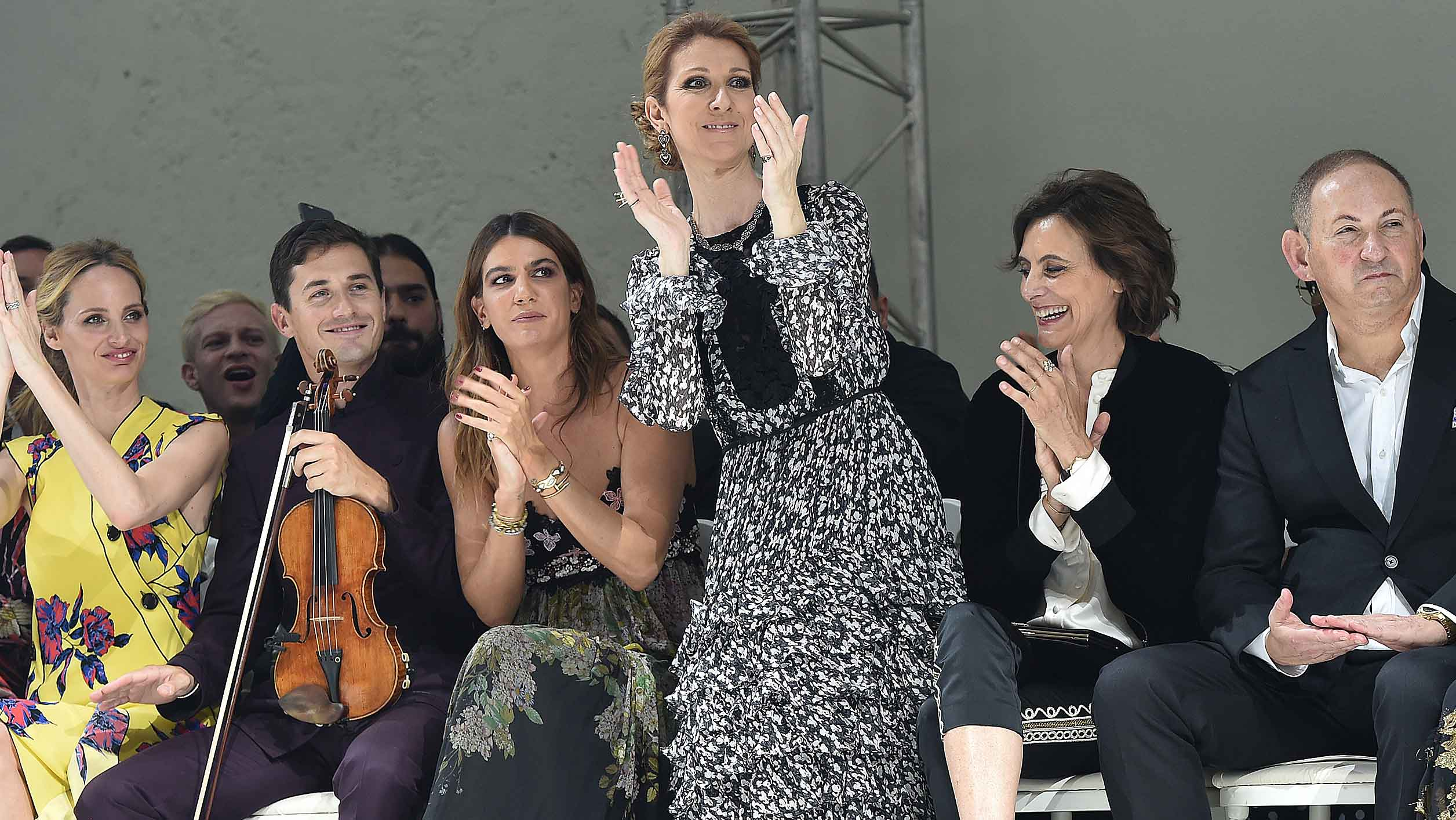 Celine Dion is queen of the world in Titanic-themed jumper