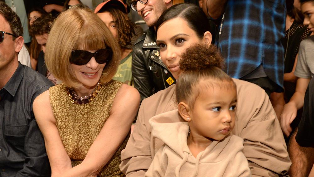 Kim Kardashian-West, now styled by North West
