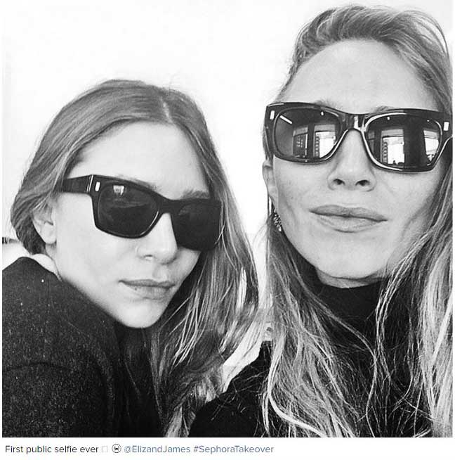 Mary-Kate and Ashley Olsen publish their first selfie