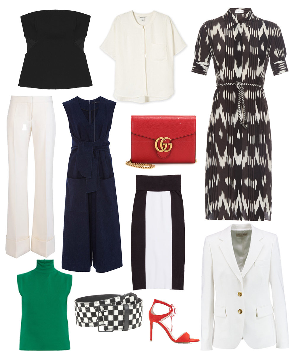Honey's edit of sharp clean-lined tailored pieces to keep you cool at work when the temperature rises.