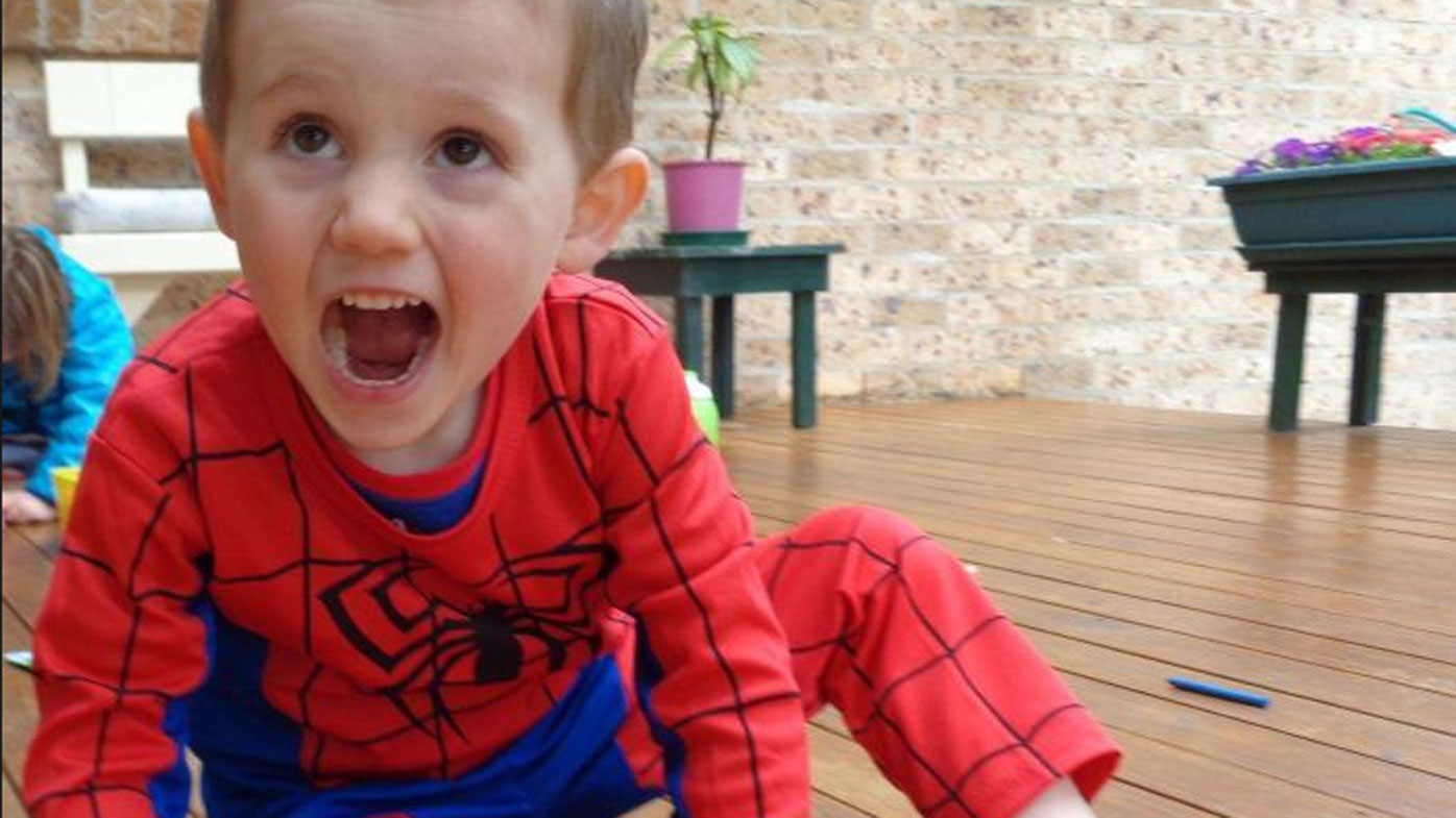 William was last seen playing, dressed in his Spider-Man outfit. (Supplied)