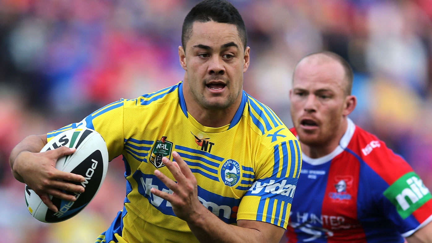 Jarryd Hayne in action for Parramatta.