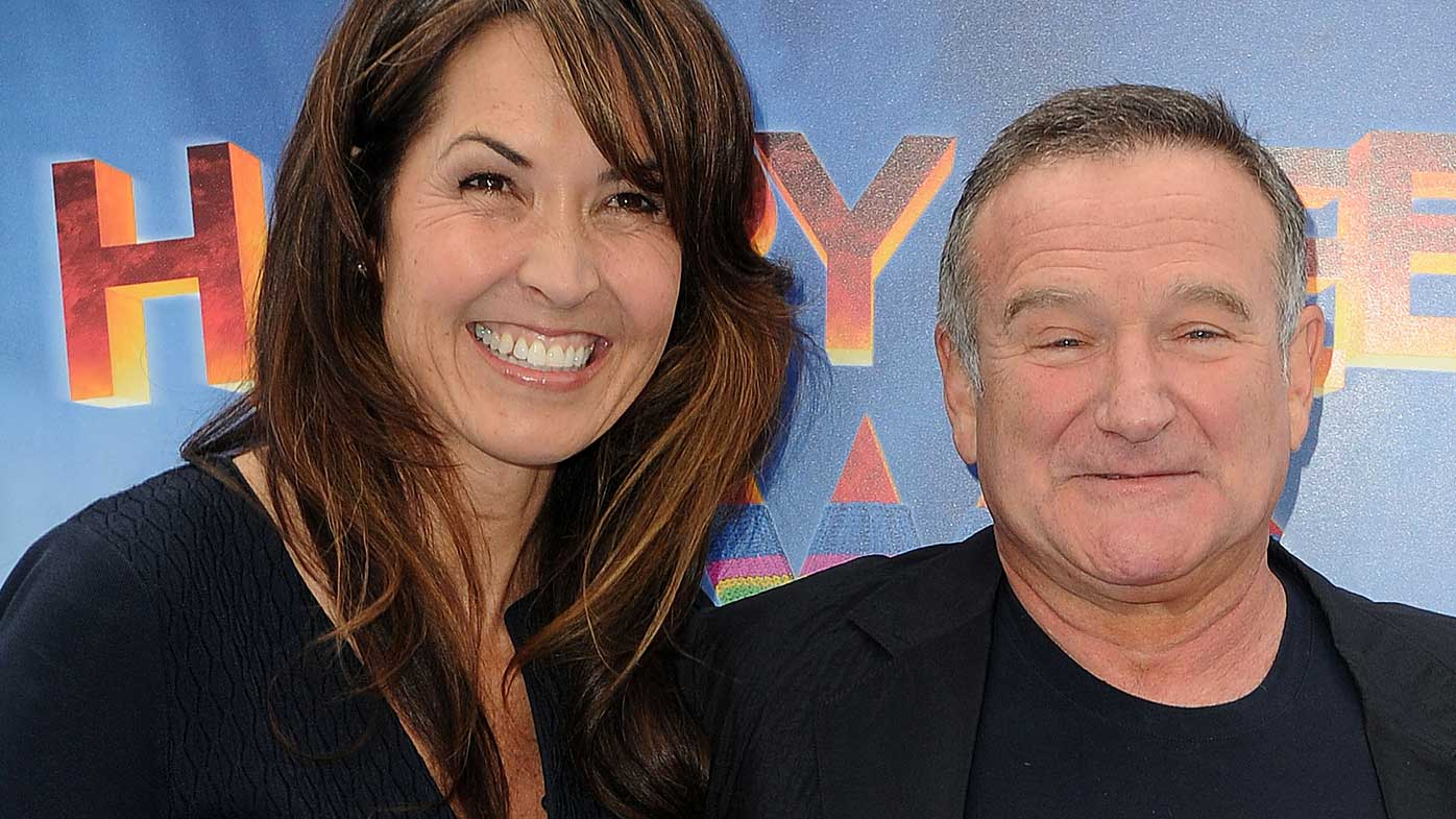 Robin Williams with wife Susan.